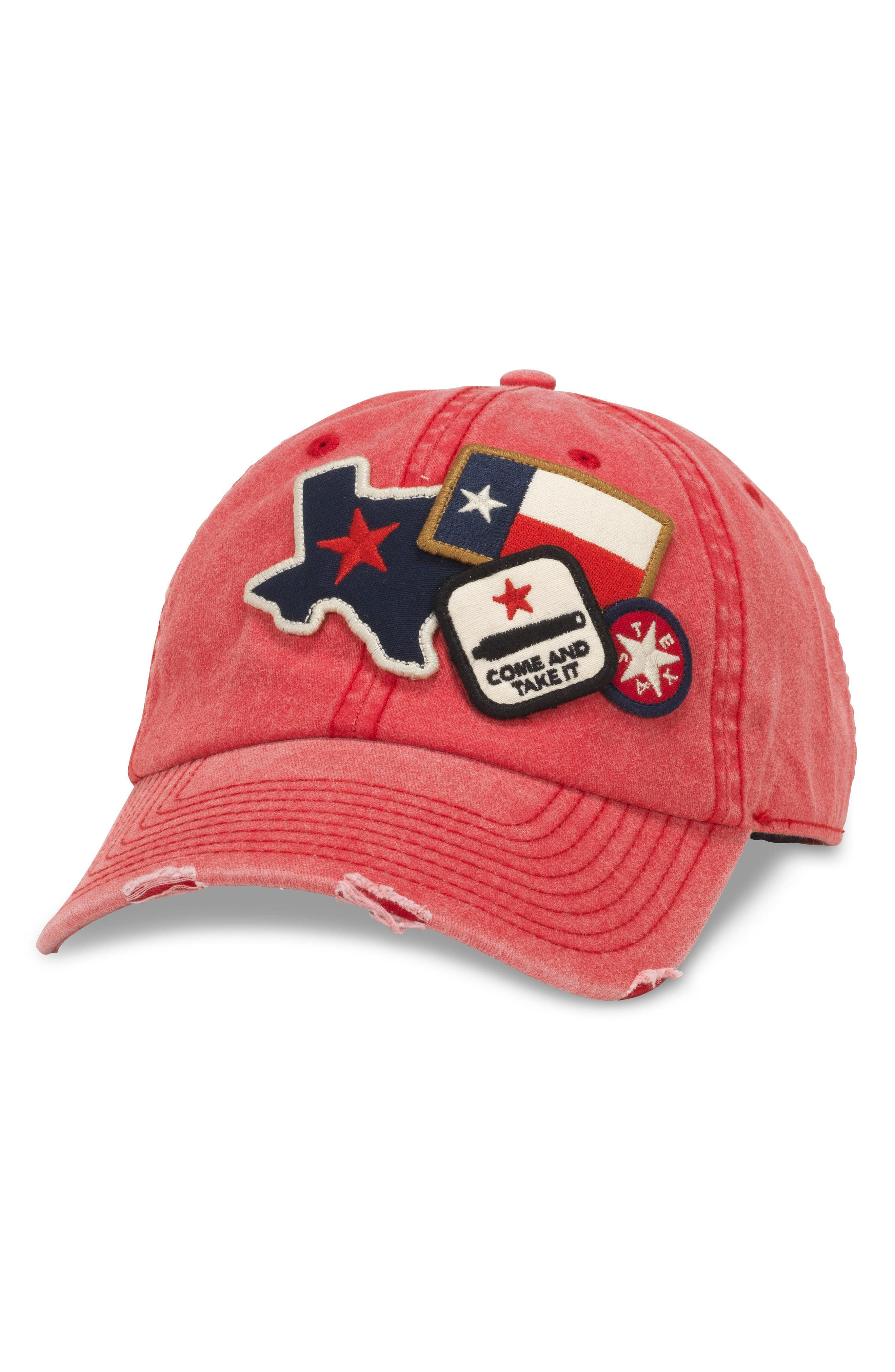 Iconic - Texas Ball Cap,                             Main thumbnail 1, color,                             Red