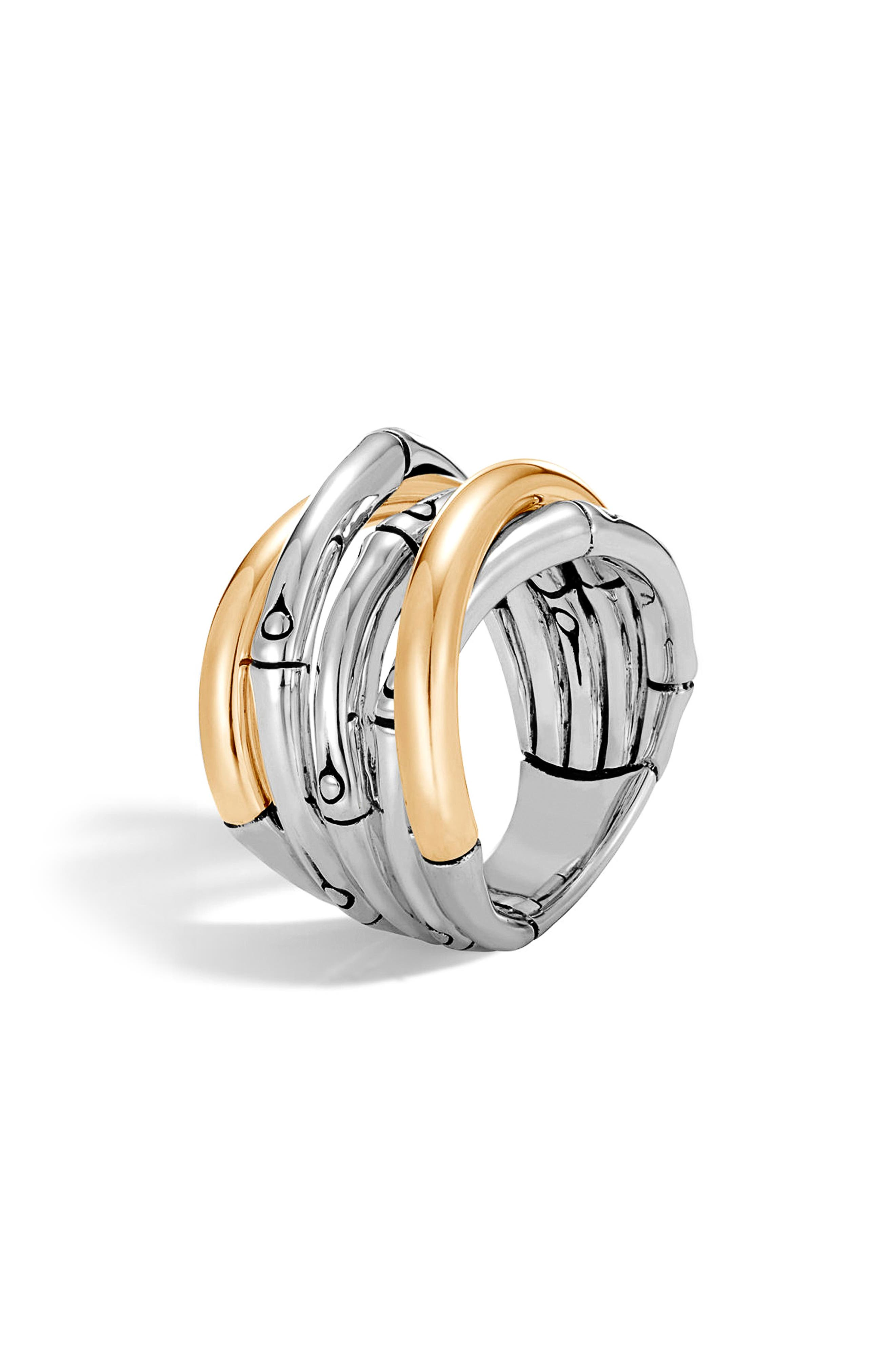 John Hardy Bamboo Gold Sterling Silver Ring