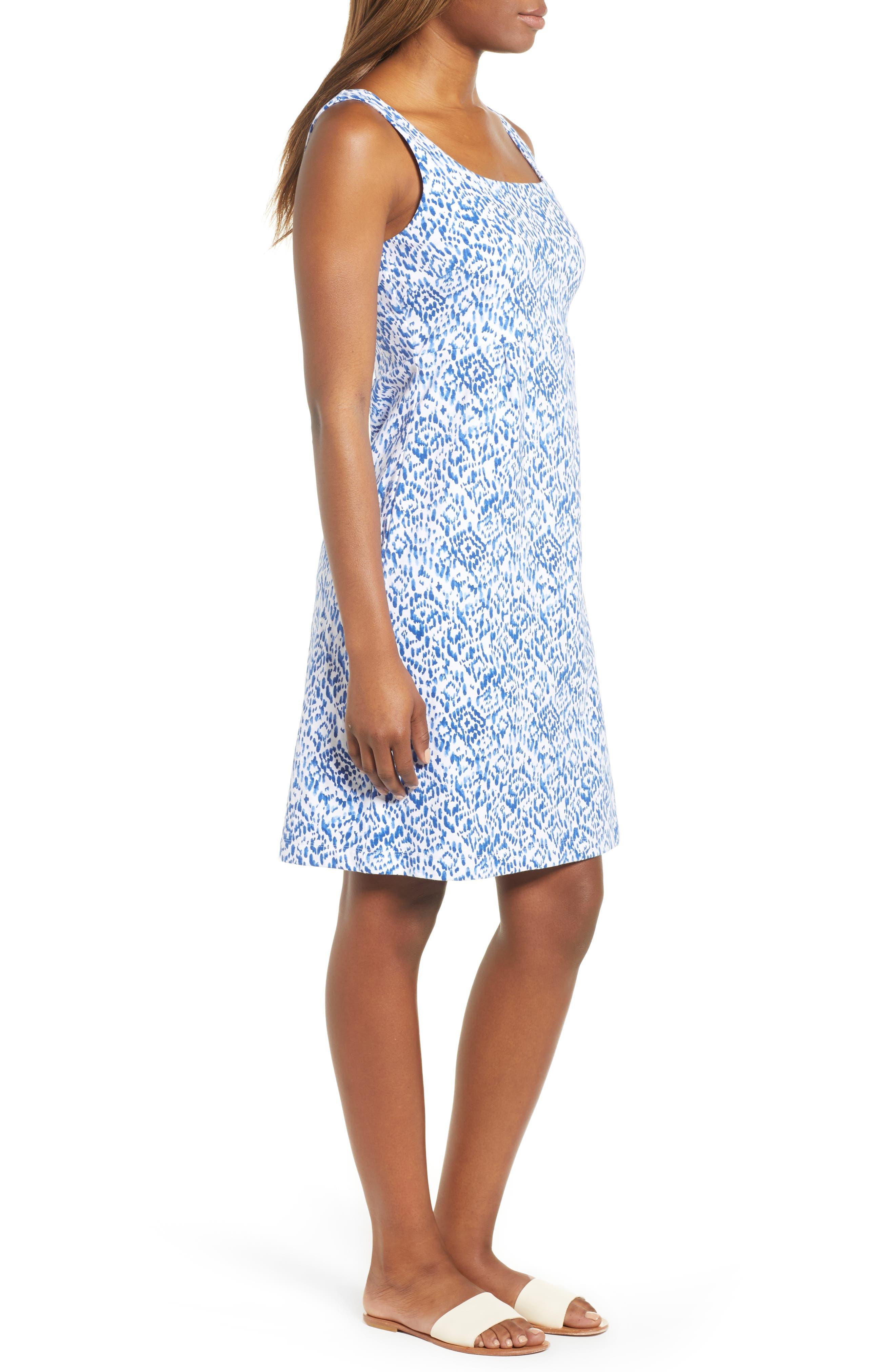 La Liorena Sleeveless Stretch Cotton Tank Dress,                             Alternate thumbnail 3, color,                             Palace Blue