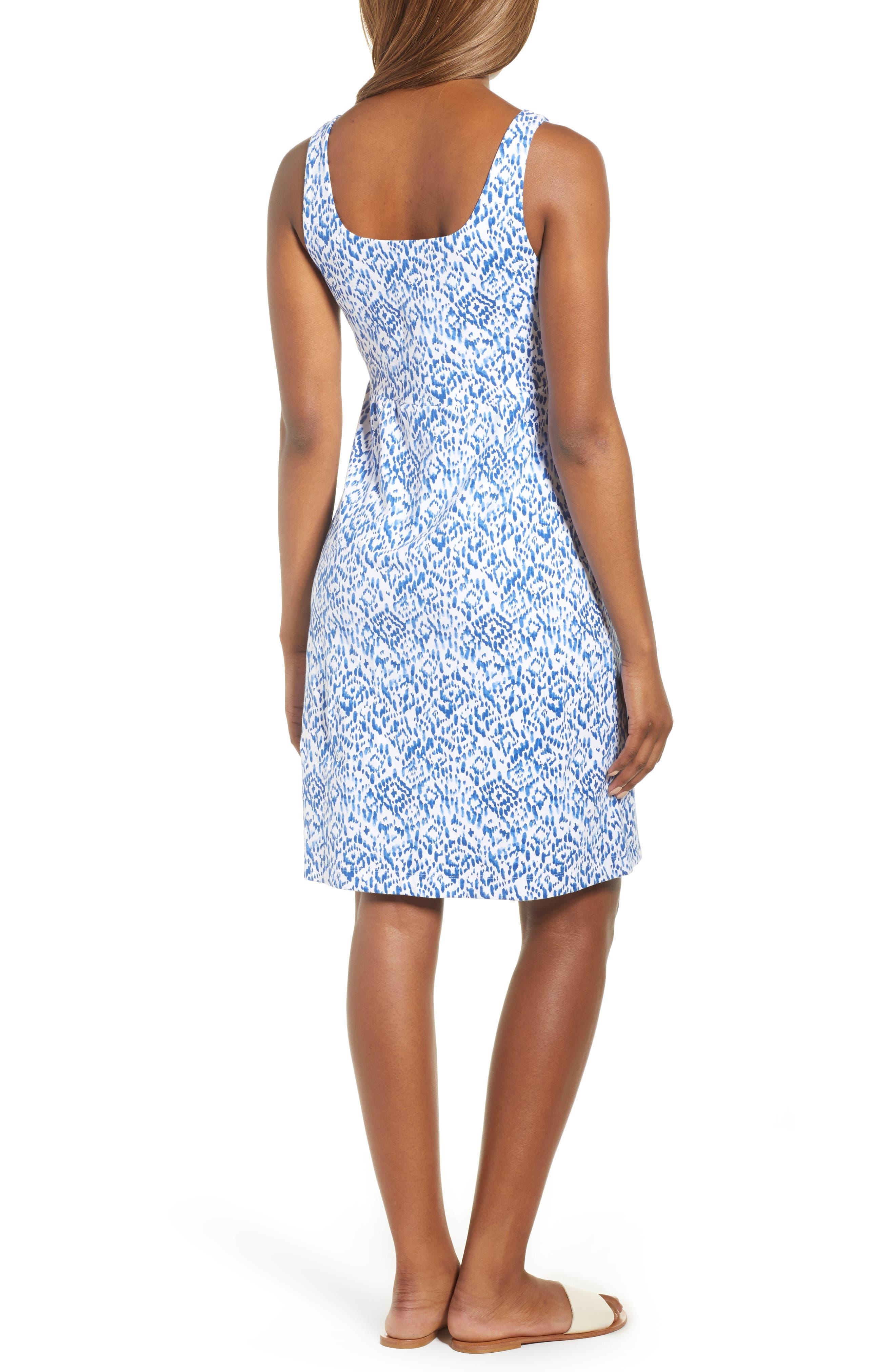 La Liorena Sleeveless Stretch Cotton Tank Dress,                             Alternate thumbnail 2, color,                             Palace Blue