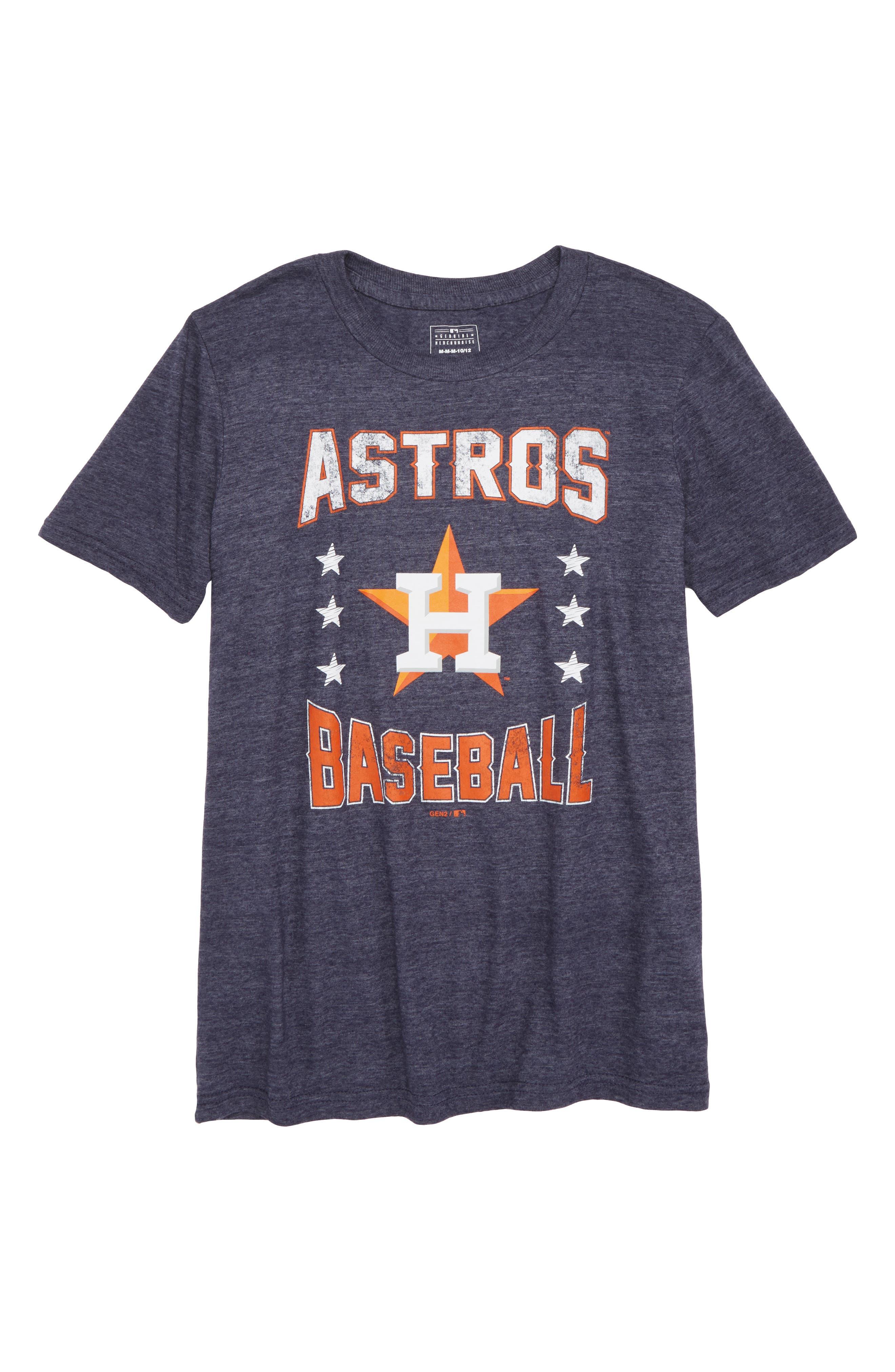 Houston Astros Triple Play T-Shirt,                         Main,                         color, Navy