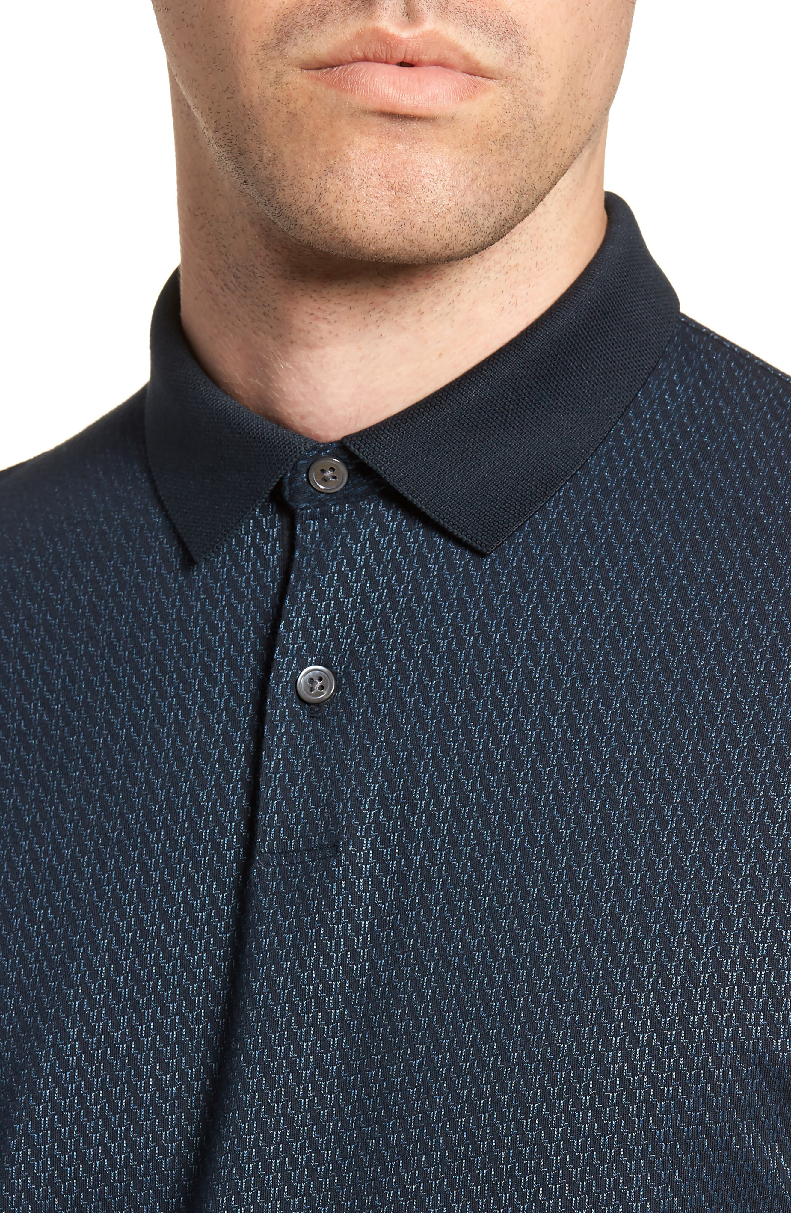 Bayliss Slim Fit Polo,                             Alternate thumbnail 4, color,                             Eclipse/ Hydro
