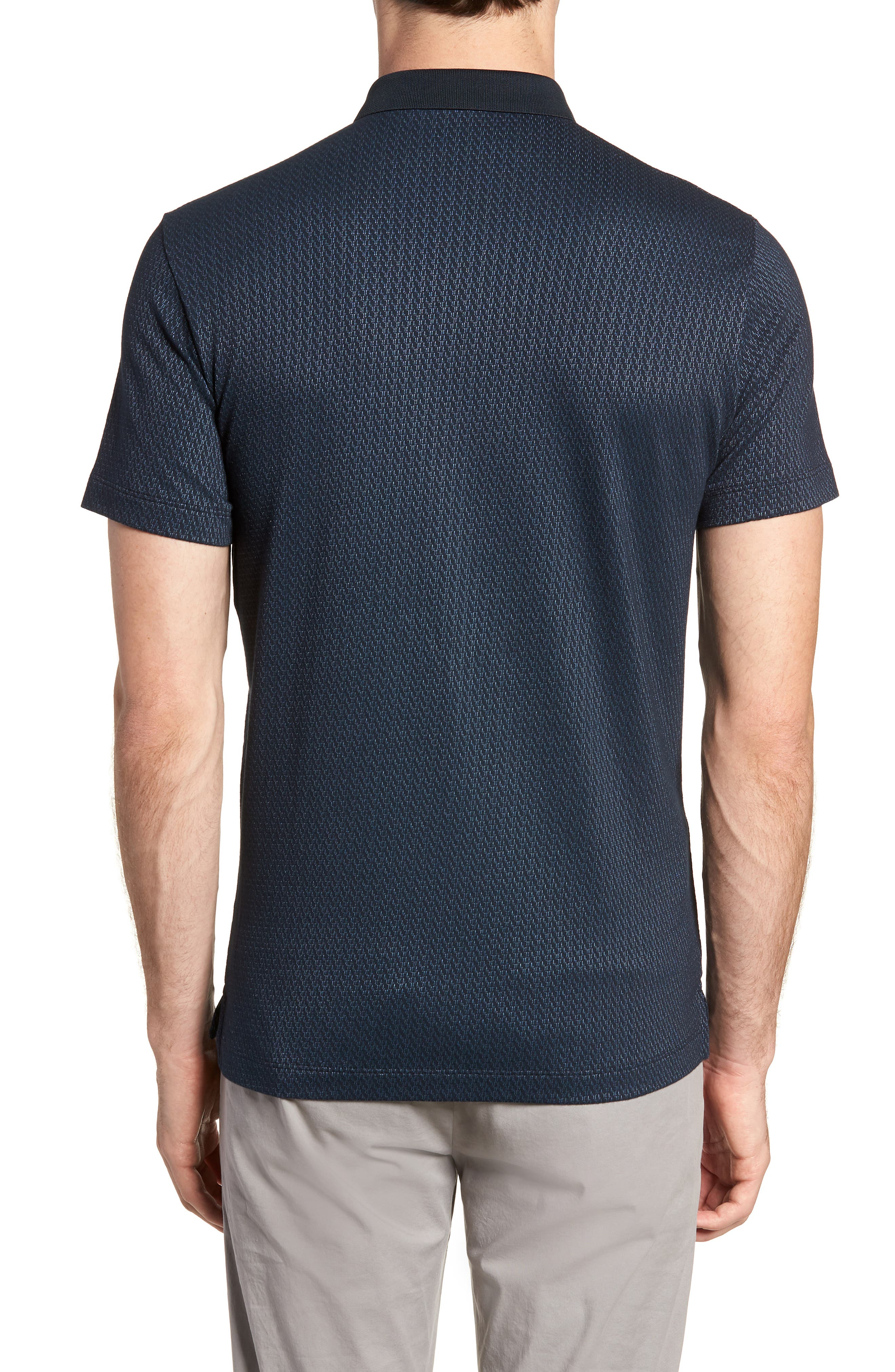 Bayliss Slim Fit Polo,                             Alternate thumbnail 2, color,                             Eclipse/ Hydro