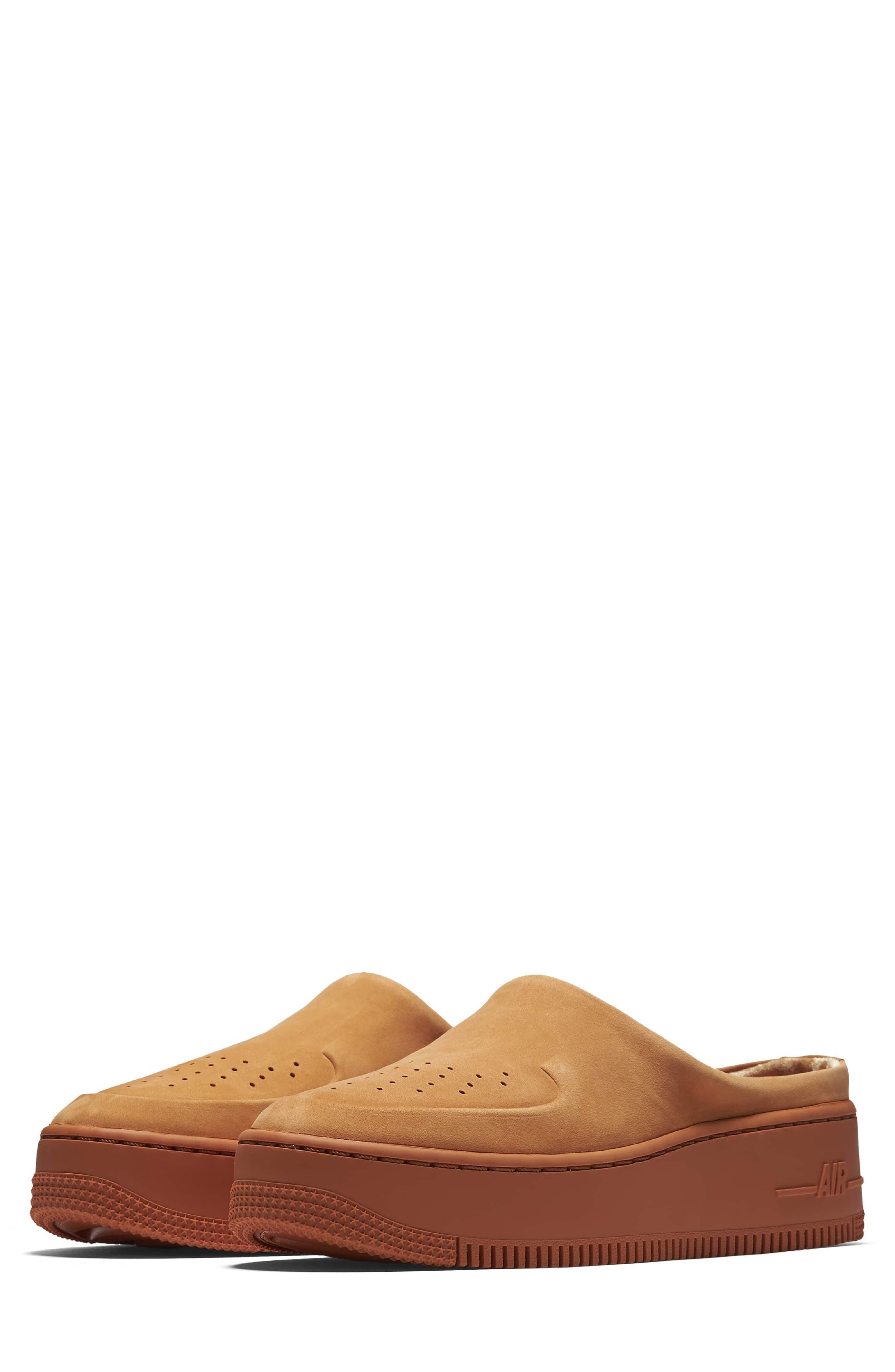 Air Force 1 Lover XX Slip-On Mule Sneaker,                             Main thumbnail 1, color,                             Cinder Orange