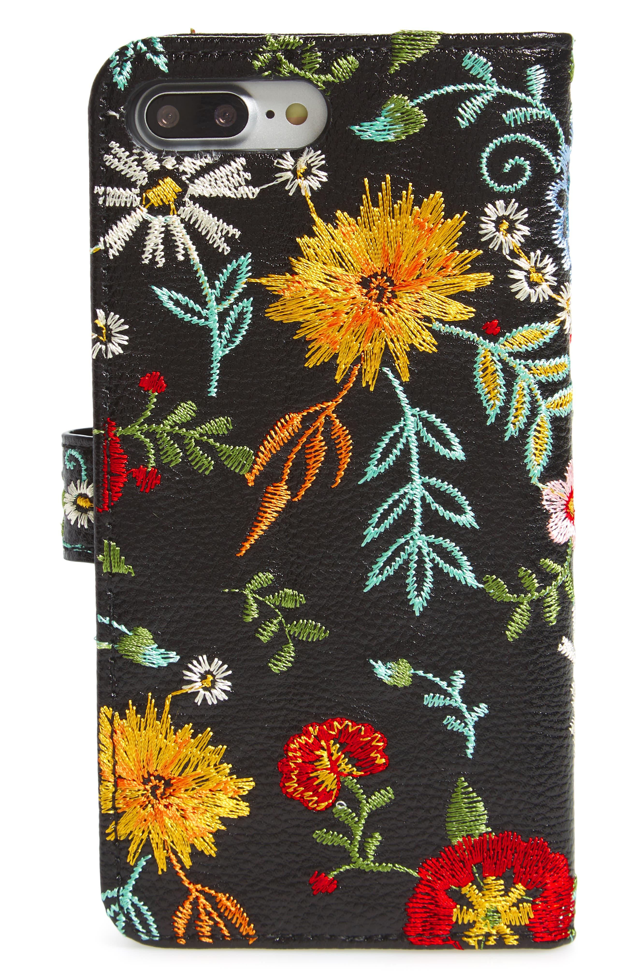 Jardin iPhone 7/8 & 7/8 Plus Wallet,                             Alternate thumbnail 3, color,                             Black Multi