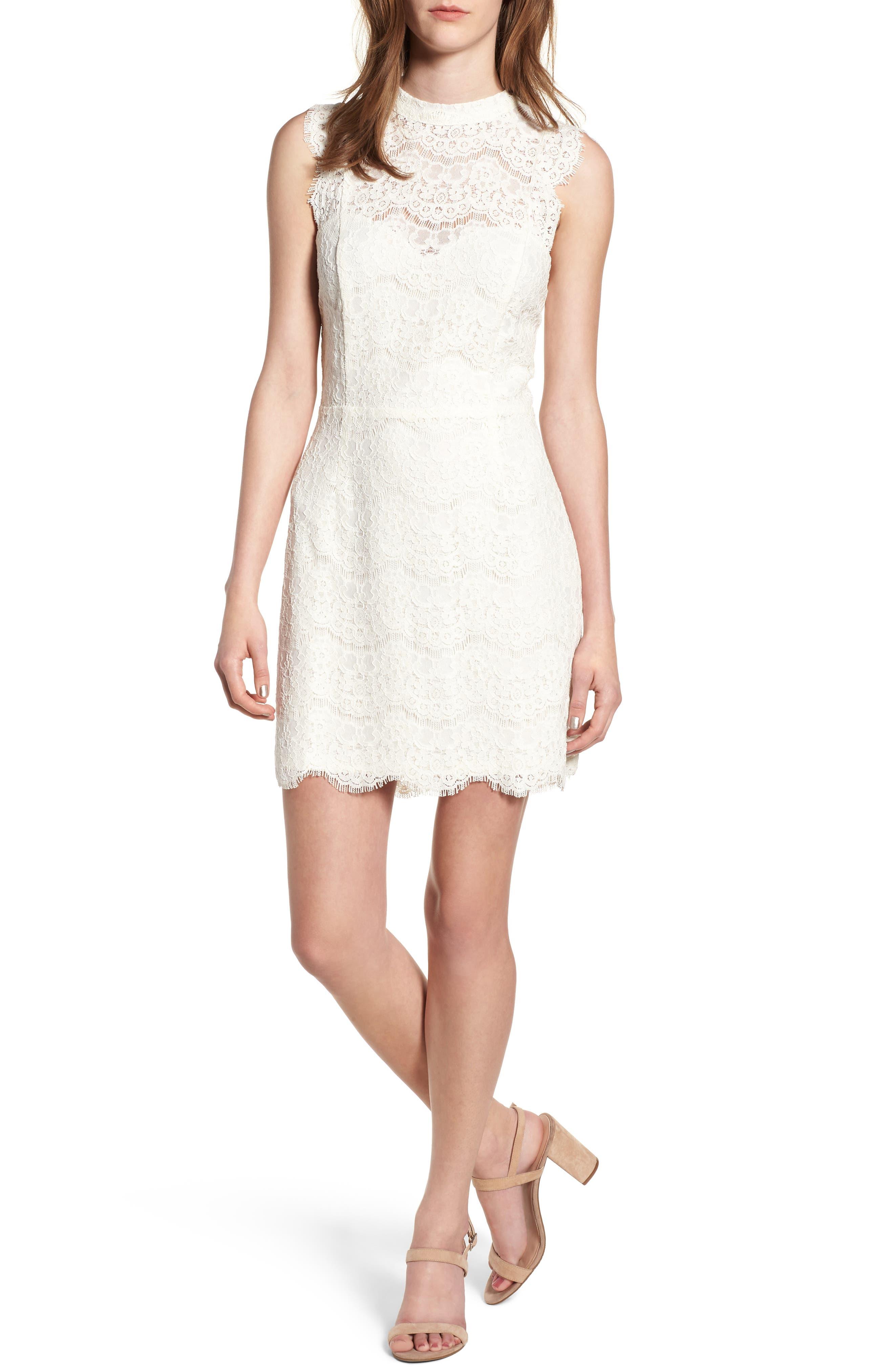 Love, Fire Lace Body-Con Minidress