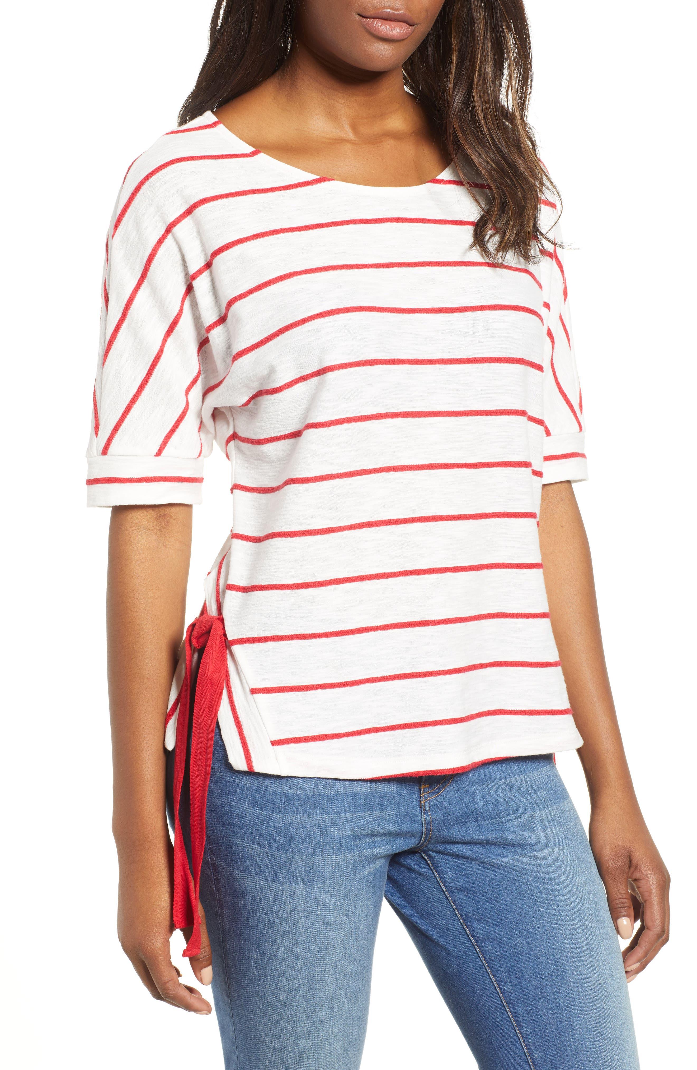 Everleigh Side Tie Stripe Tee (Regular & Petite)