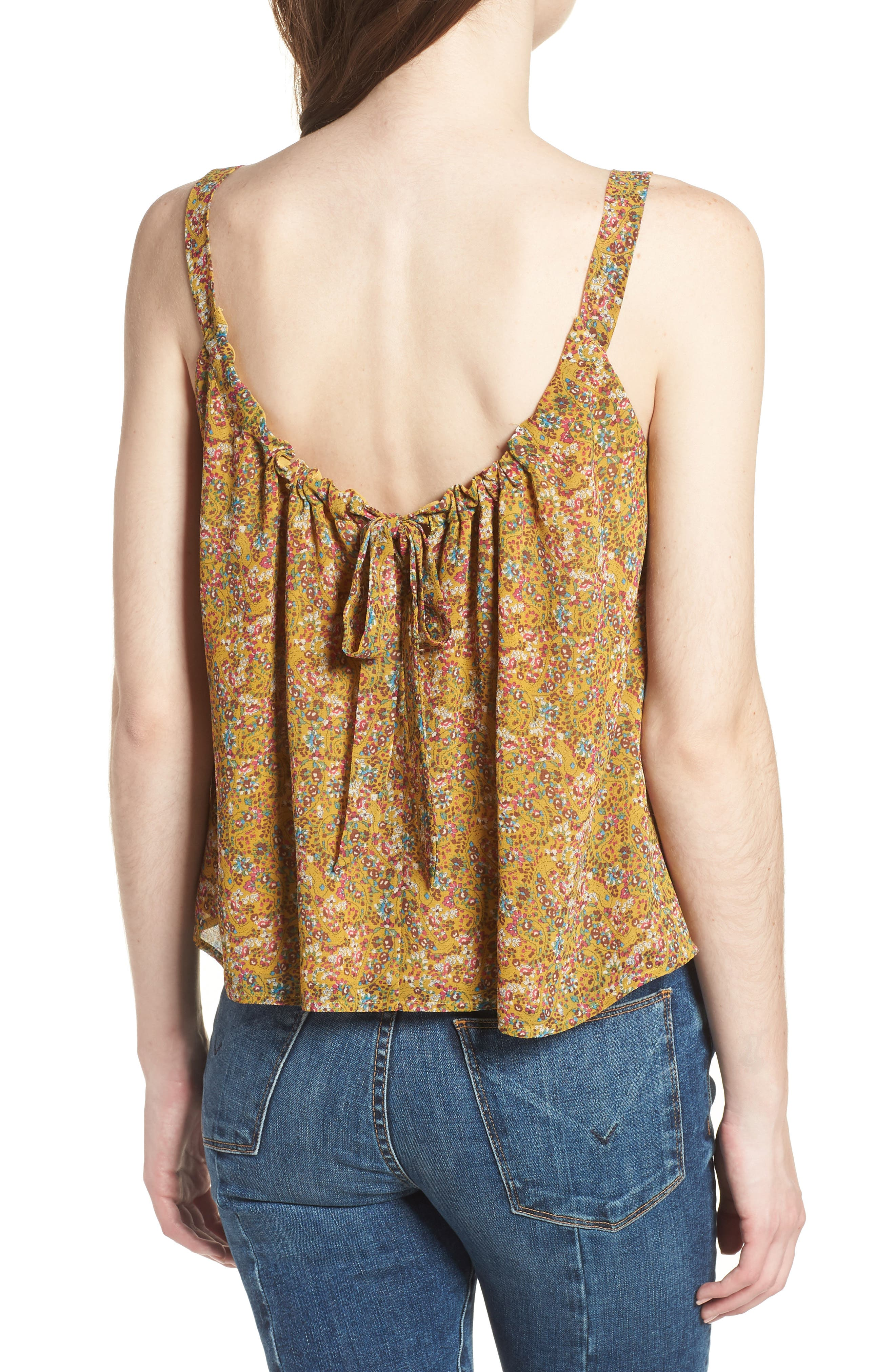 Madison Floral Top,                             Alternate thumbnail 2, color,                             Yellow Multi