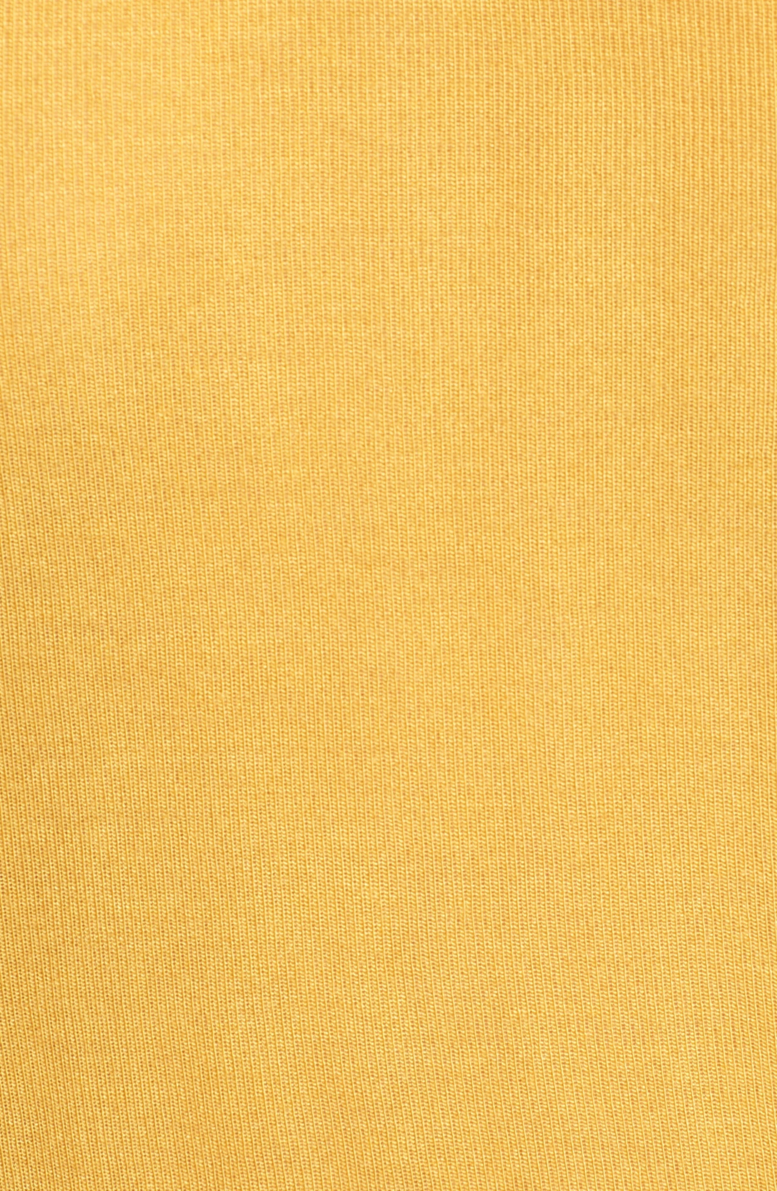 Scoop Neck Tee,                             Alternate thumbnail 6, color,                             Mustard