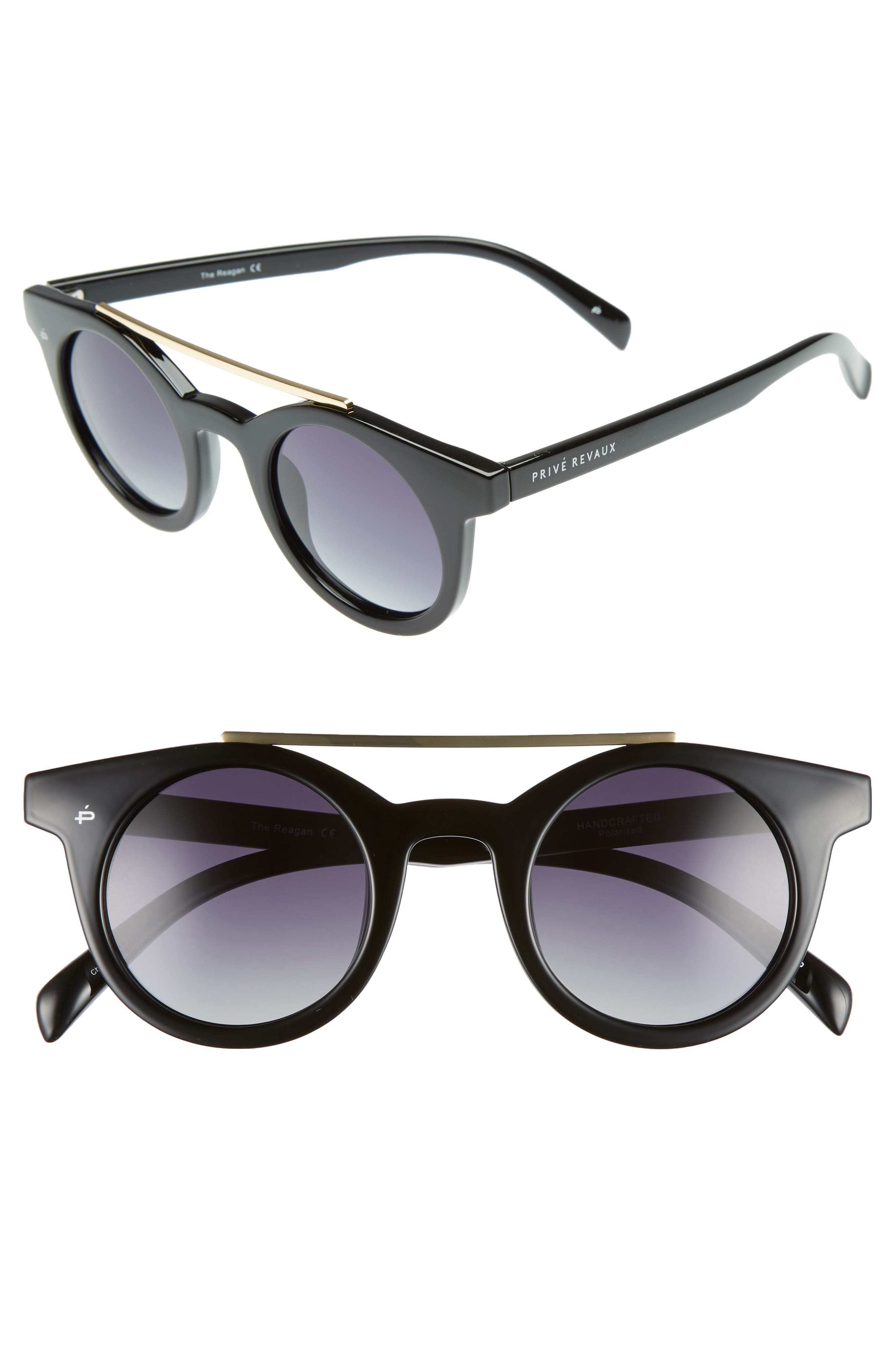 Alternate Image 1 Selected - Privé Revaux The Reagan 43mm Polarized Round Sunglasses