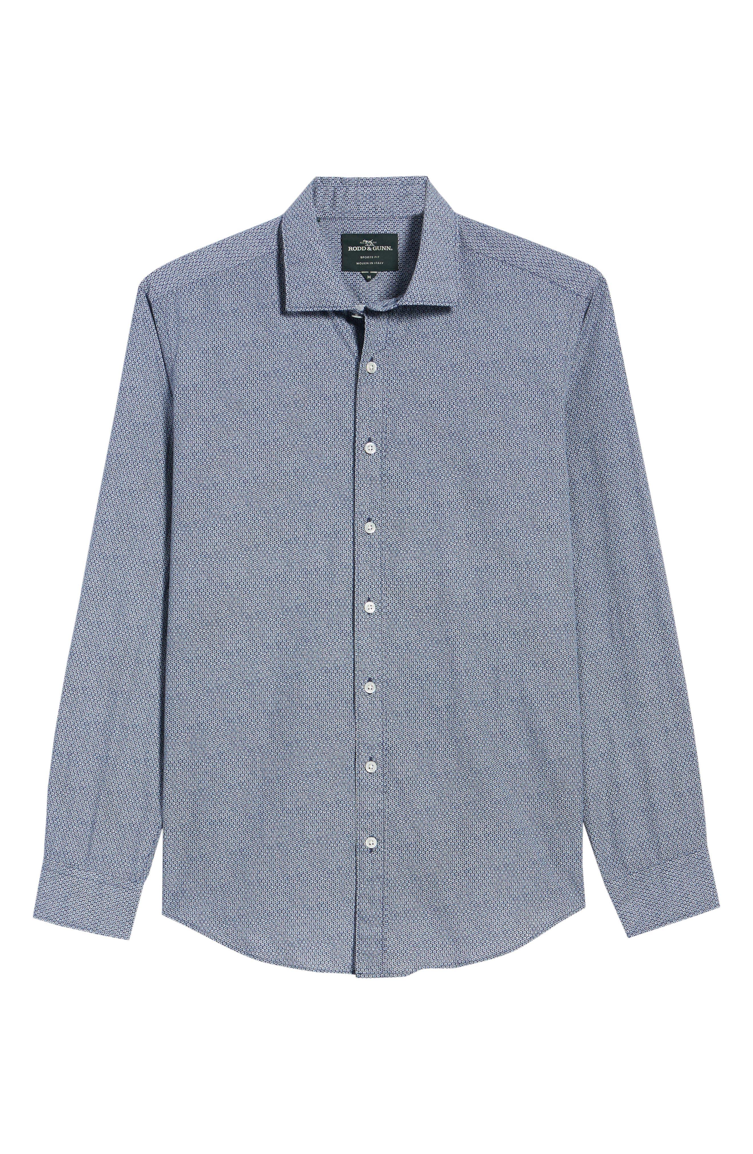 Beacon Point Regular Fit Sport Shirt,                             Alternate thumbnail 6, color,                             Navy