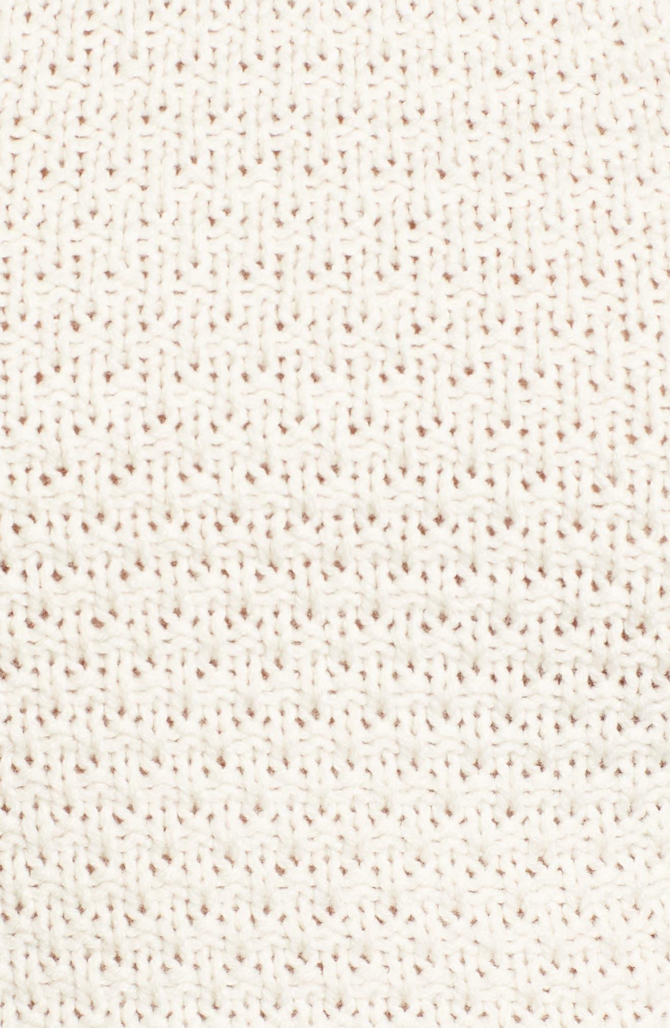 Fringe Sweater Halter Top,                             Alternate thumbnail 6, color,                             Stone Oatmeal Marl