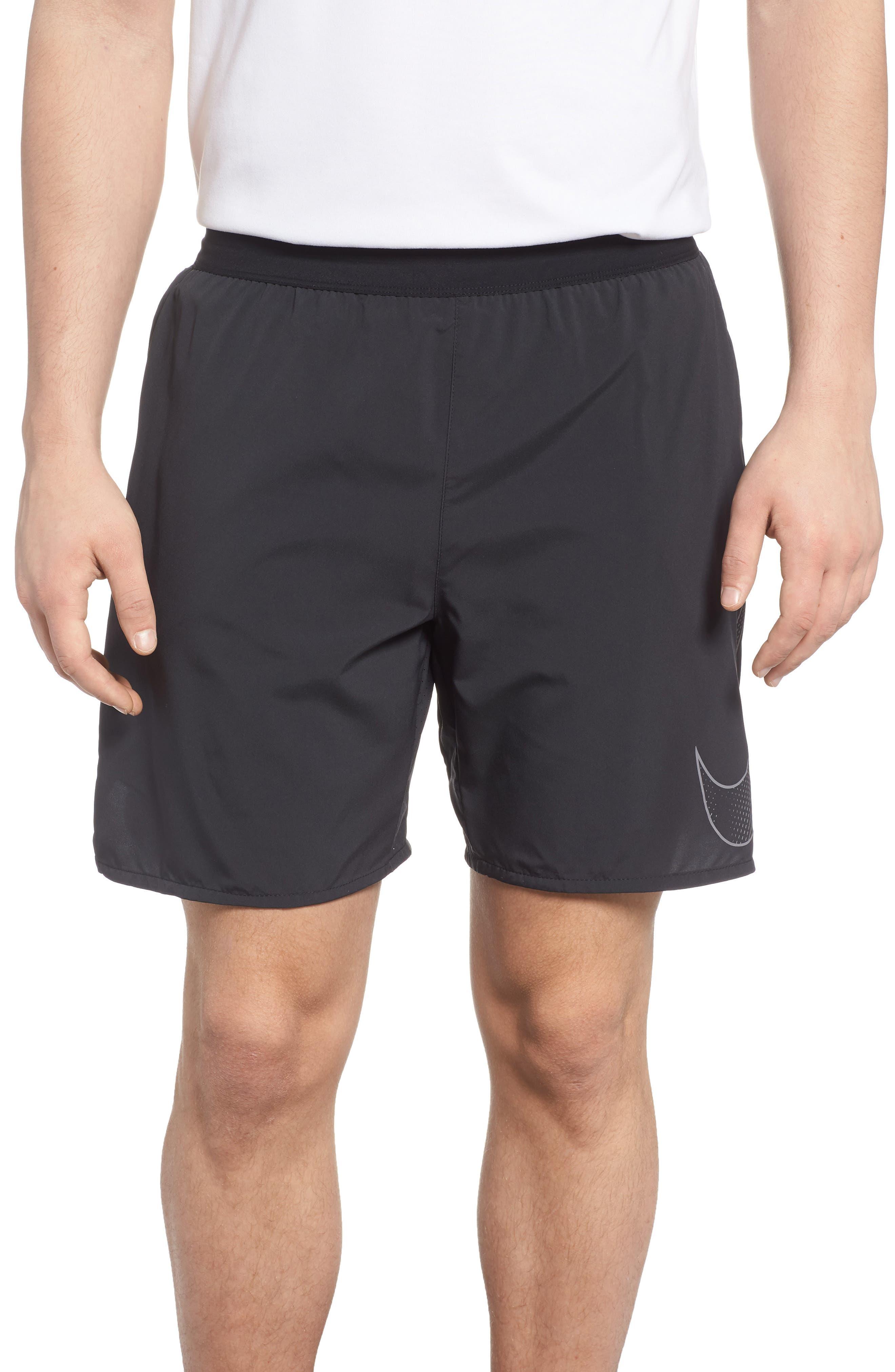 Flex Flash Distance Shorts,                         Main,                         color, Black/ Black