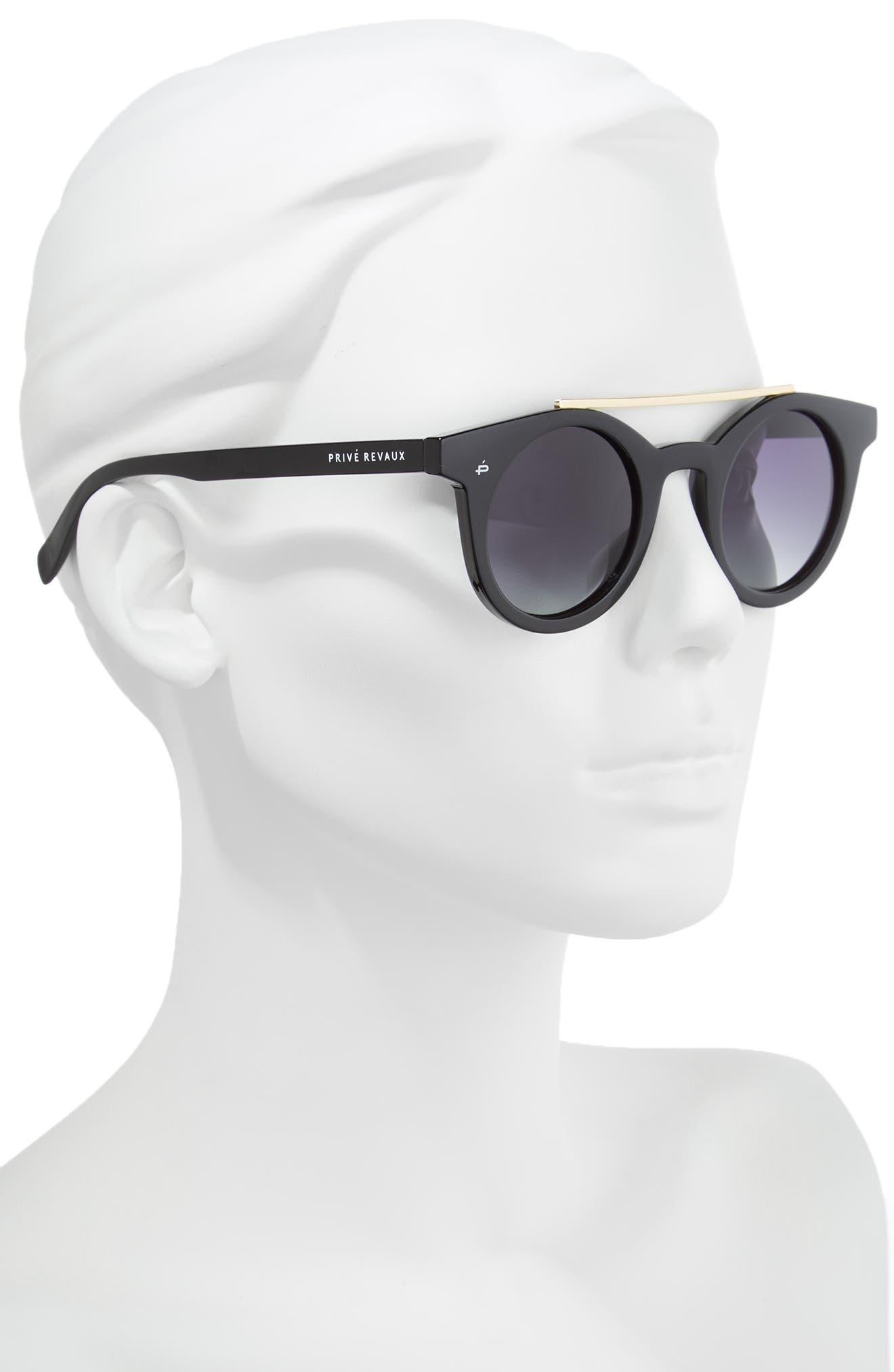 Alternate Image 3  - Privé Revaux The Reagan 43mm Polarized Round Sunglasses