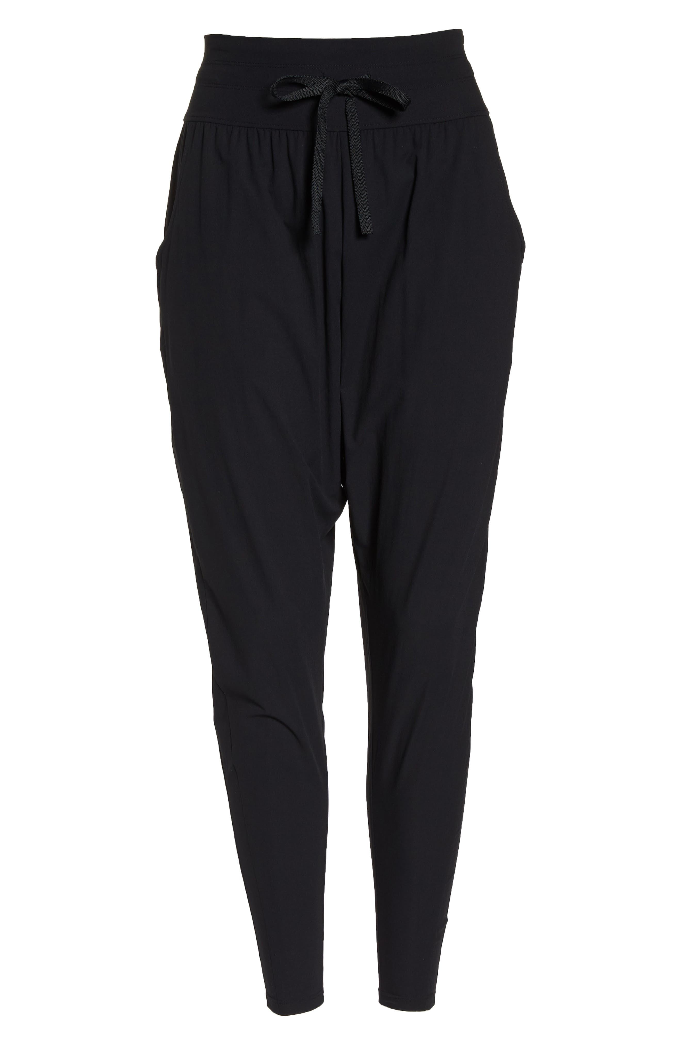 Cardio Harem Pants,                             Alternate thumbnail 7, color,                             Black