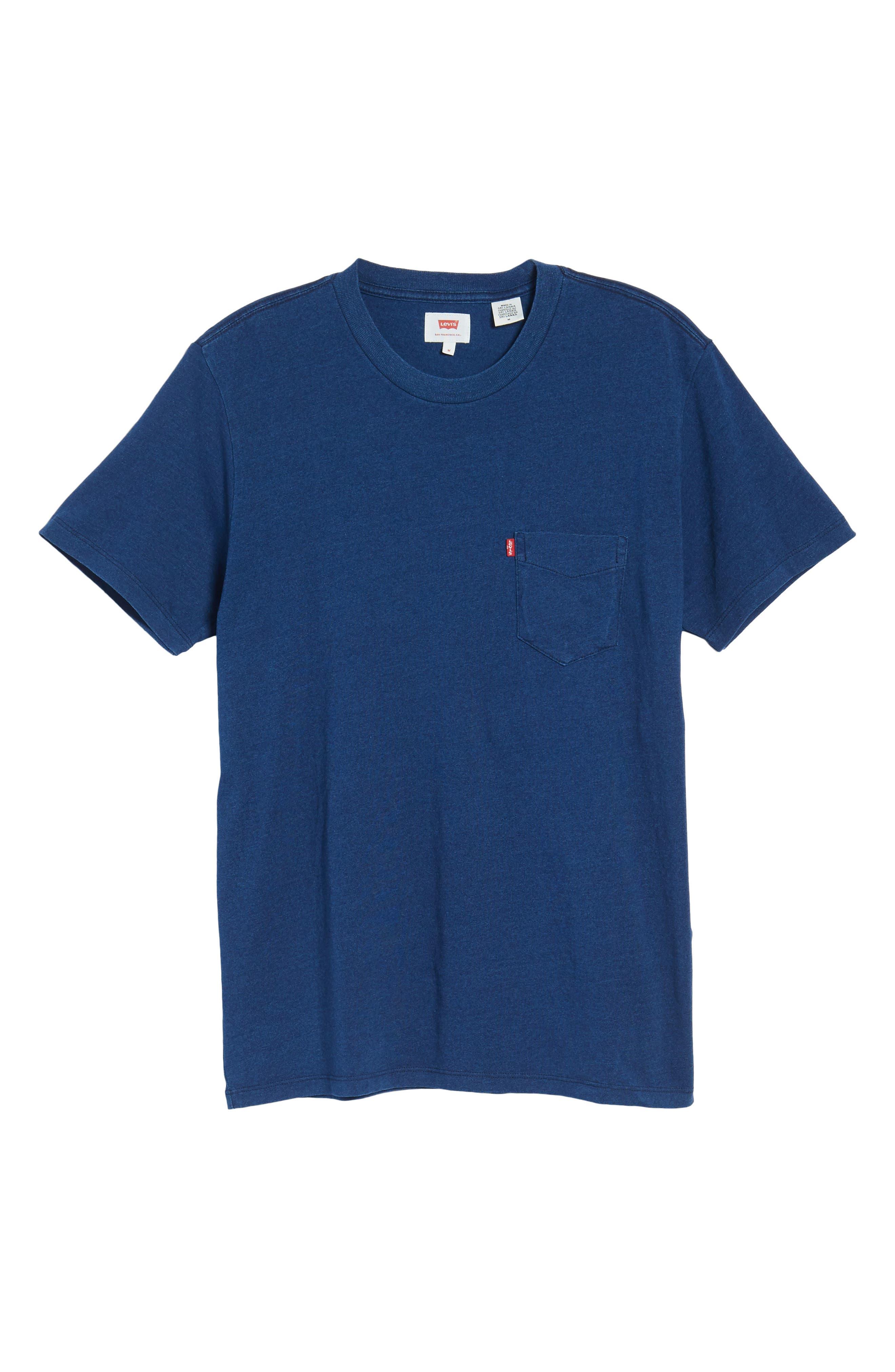 Pocket T-Shirt,                             Alternate thumbnail 6, color,                             Medium Indigo Xx