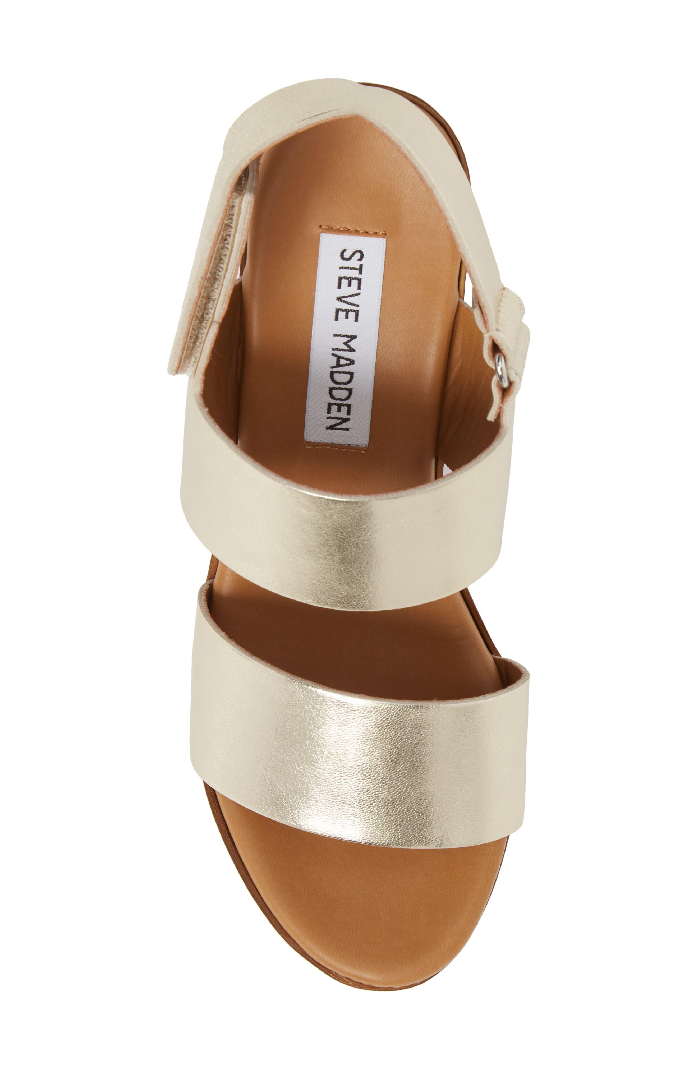 Marena Slingback Platform Sandal,                             Alternate thumbnail 5, color,                             Champagne