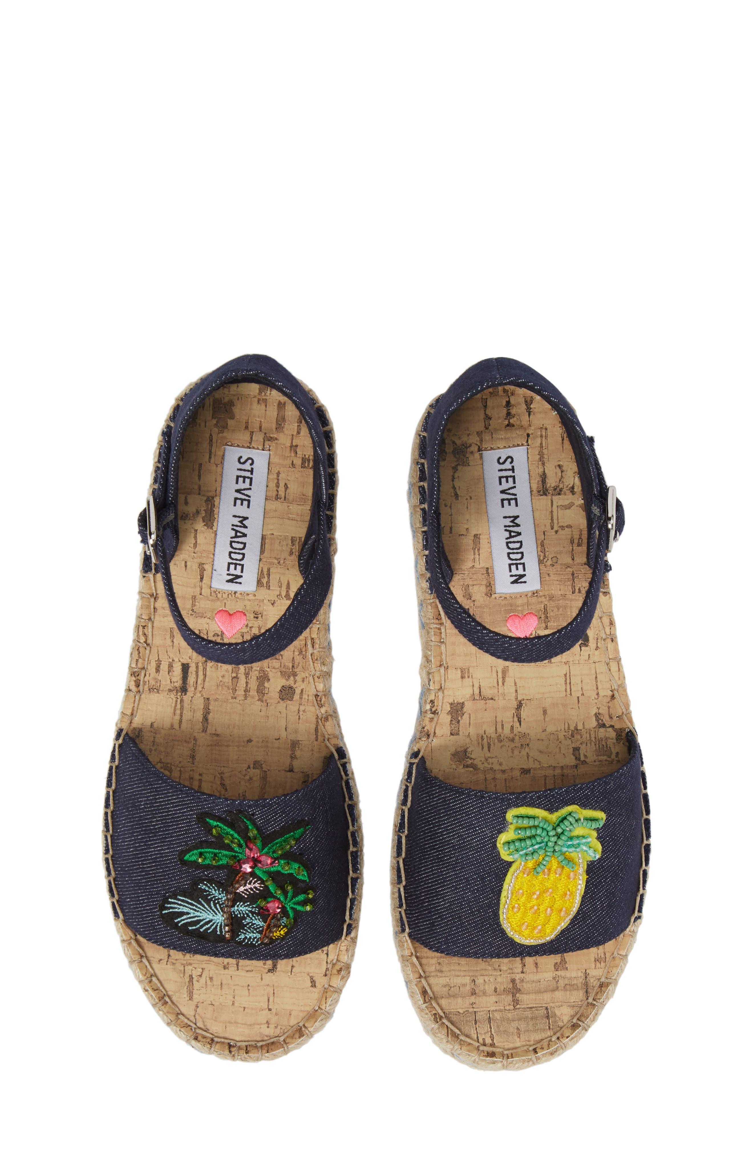 JLUAO Tropical Embellished Sandal,                             Main thumbnail 1, color,                             Fruit Multi