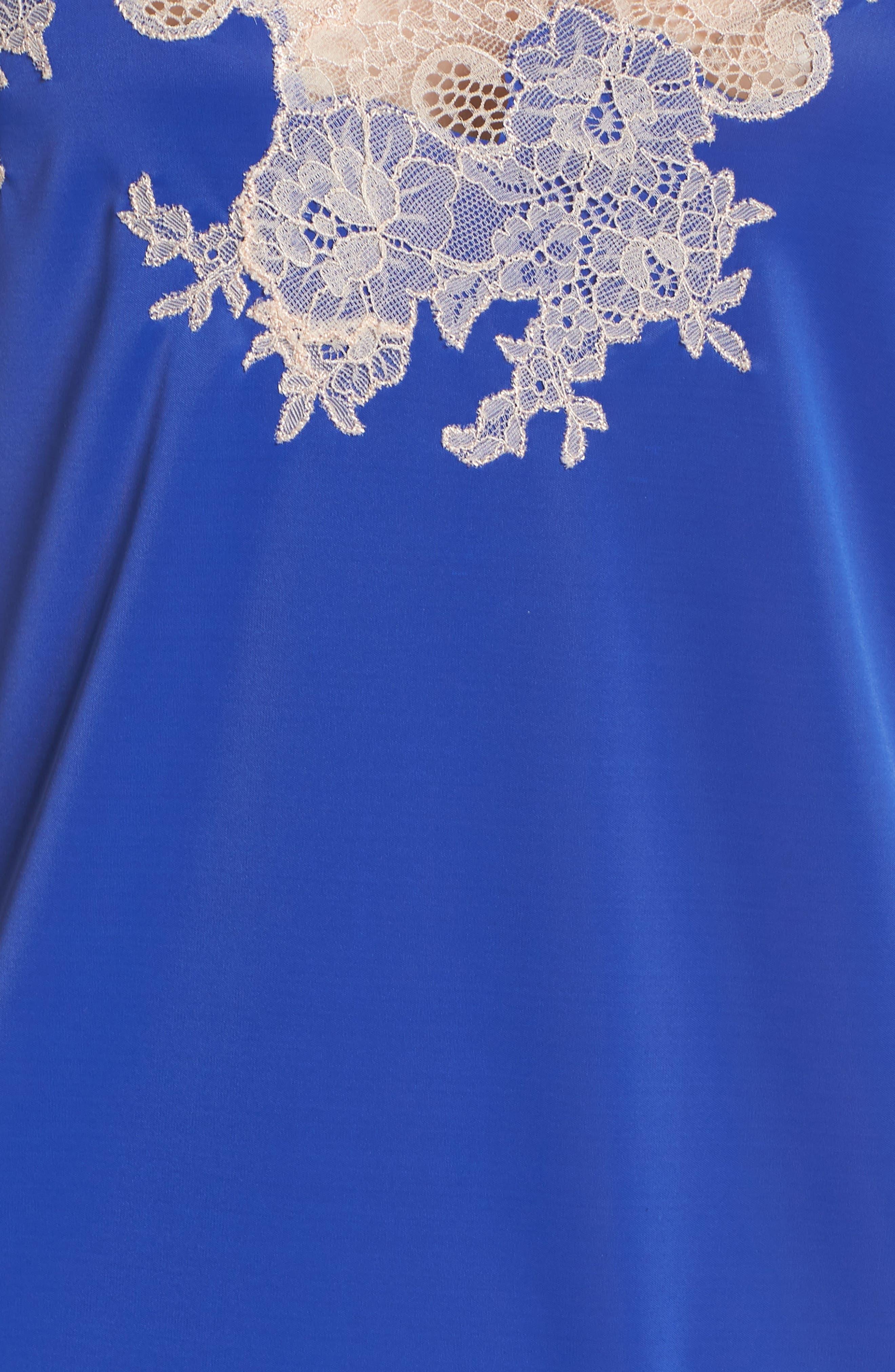 'Enchant' Chemise,                             Alternate thumbnail 6, color,                             Cobalt/ Cam Rose Lace
