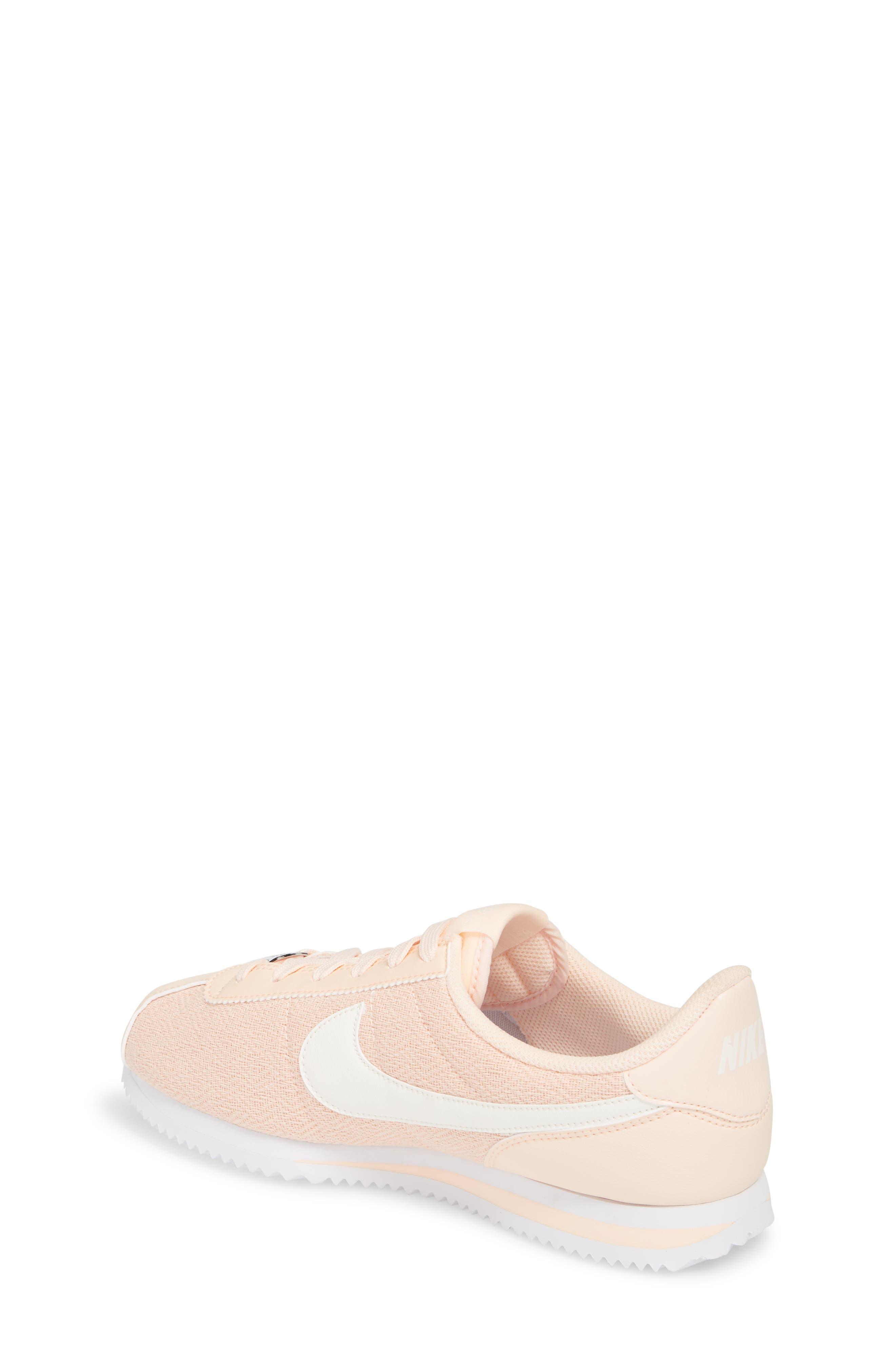 Cortez Basic TXT SE Sneaker,                             Alternate thumbnail 2, color,                             Crimson Tint/ Sail/ White