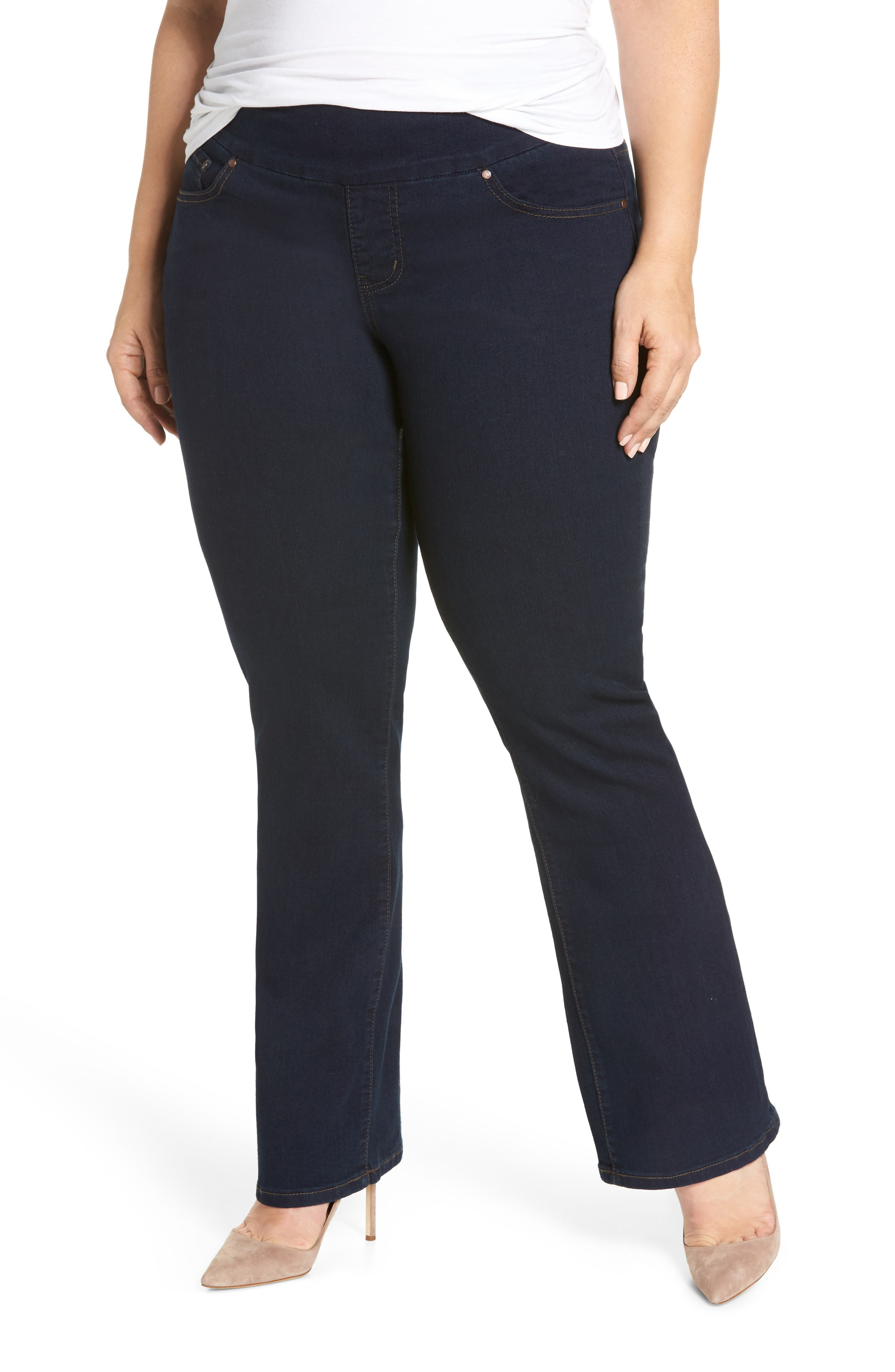 Peri Stretch Straight Leg Jeans,                         Main,                         color, Dark Indigo