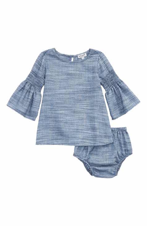 Baby girl dresses ruffle silk velour nordstrom splendid bell sleeve dress baby girls negle Choice Image