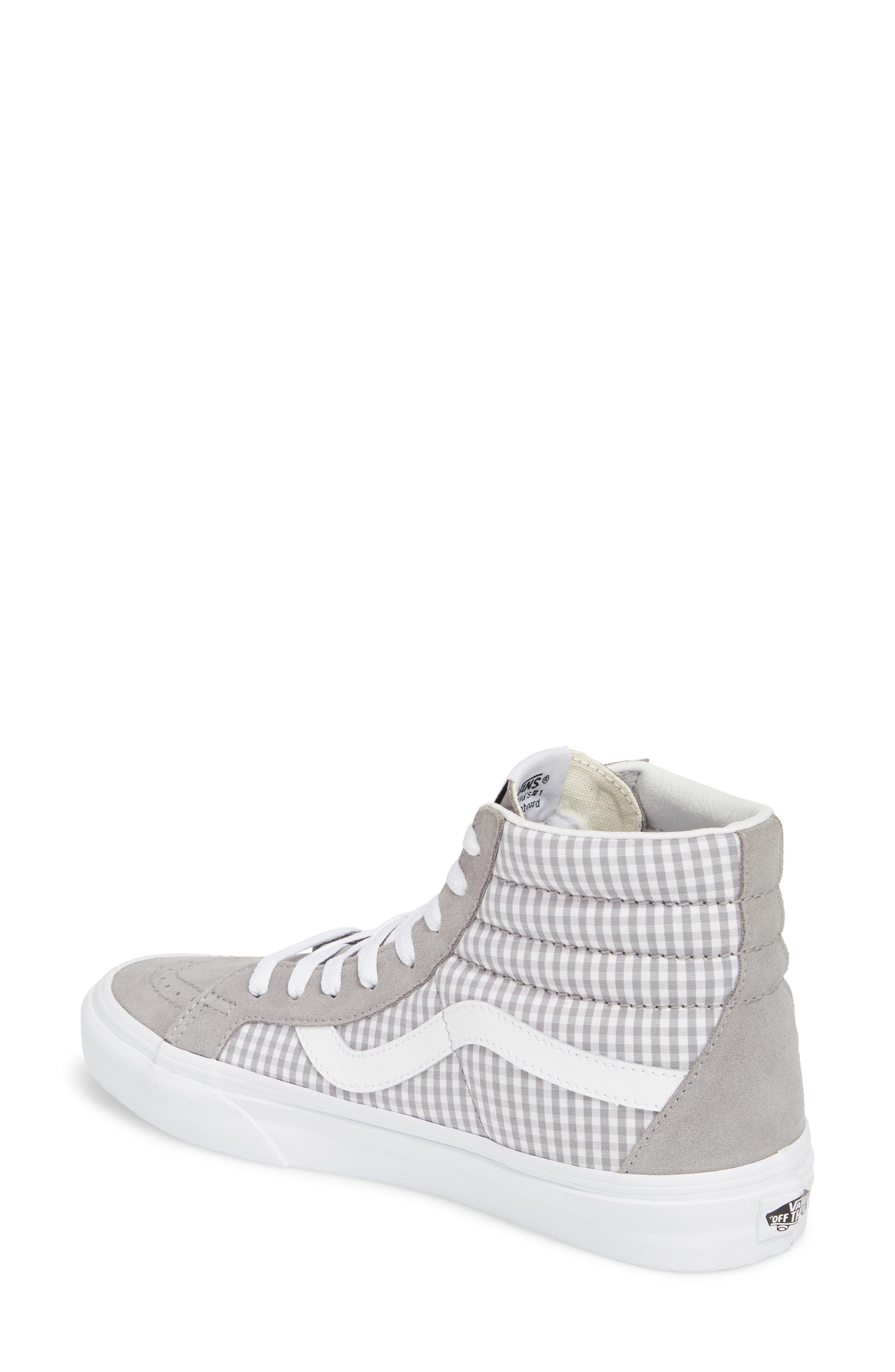 'Sk8-Hi Reissue' Sneaker,                             Alternate thumbnail 2, color,                             Titanium/ True White
