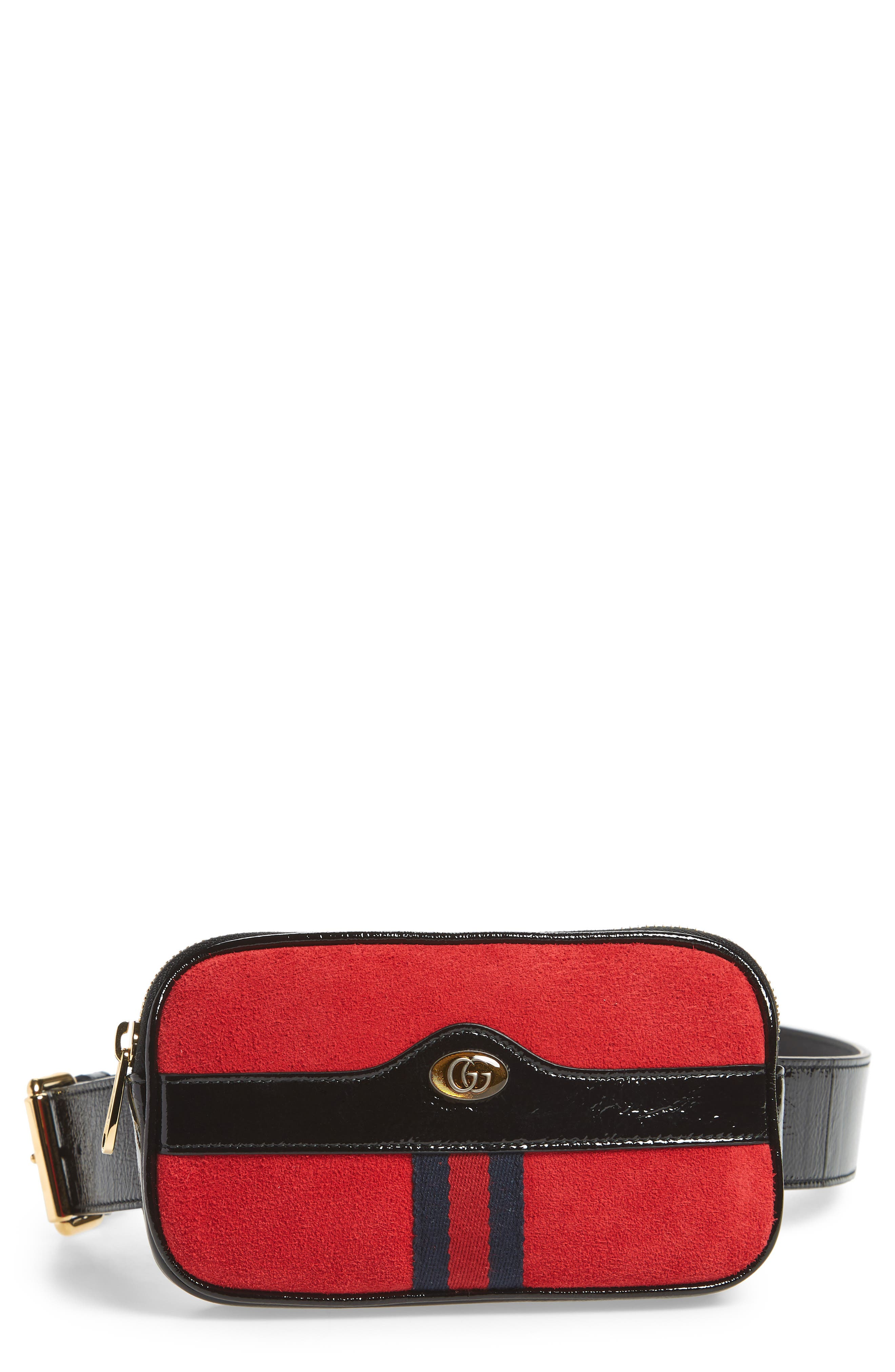 Gucci Ophidia Suede Belt Bag