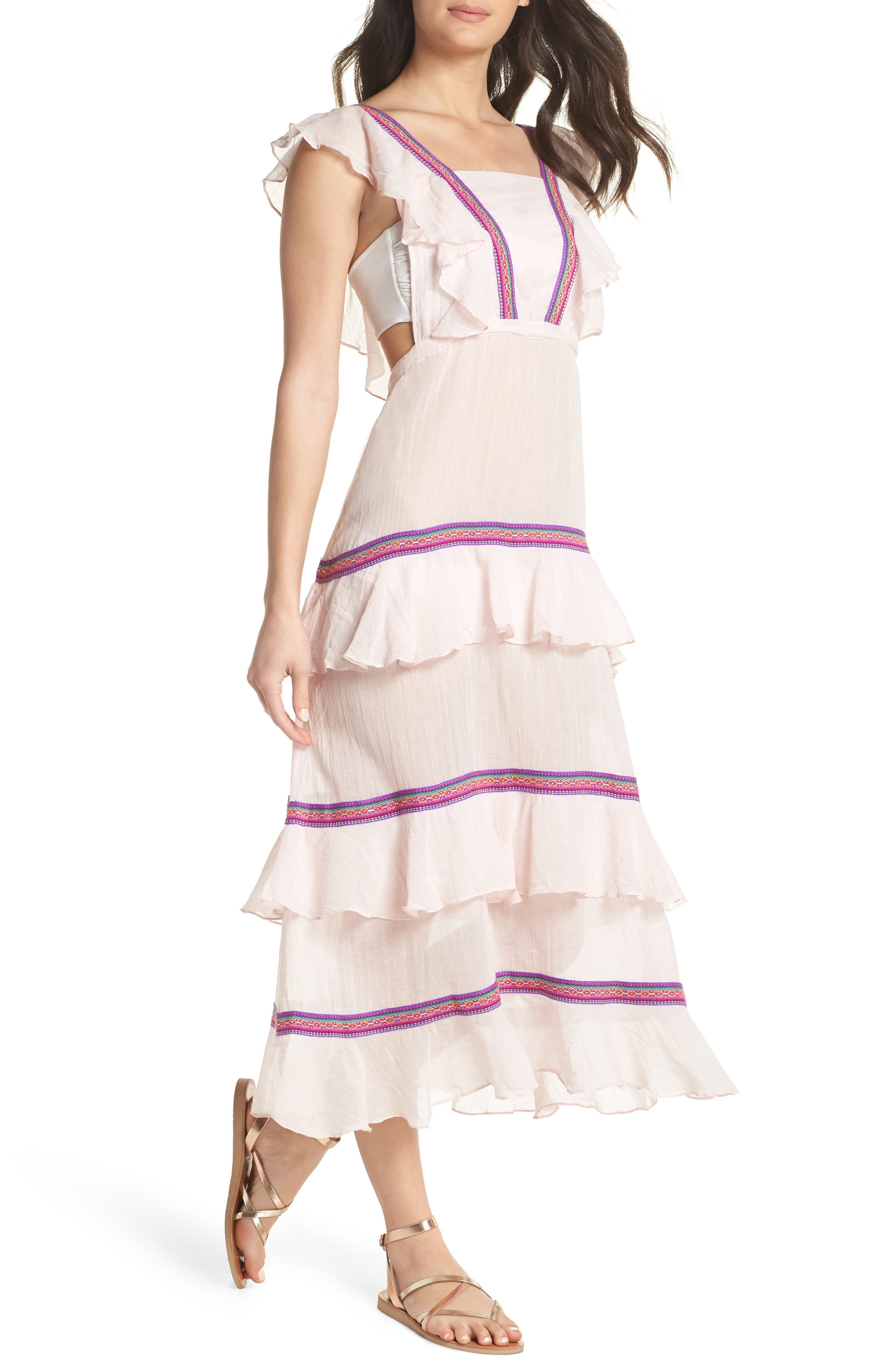Eve Cover-Up Dress,                             Main thumbnail 1, color,                             Pale Pink