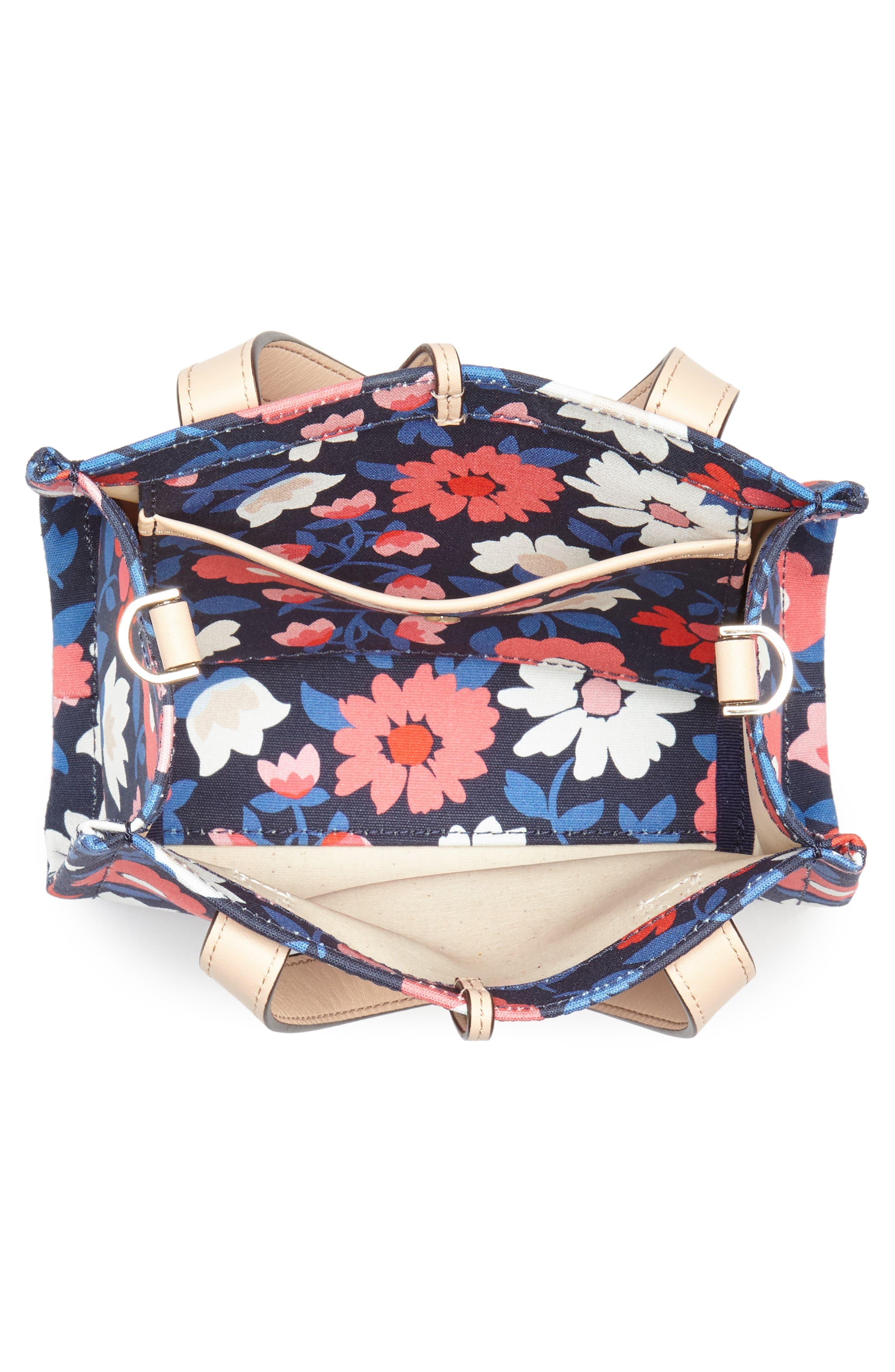 washington square - small sam canvas satchel,                             Alternate thumbnail 4, color,                             Rich Navy Multi