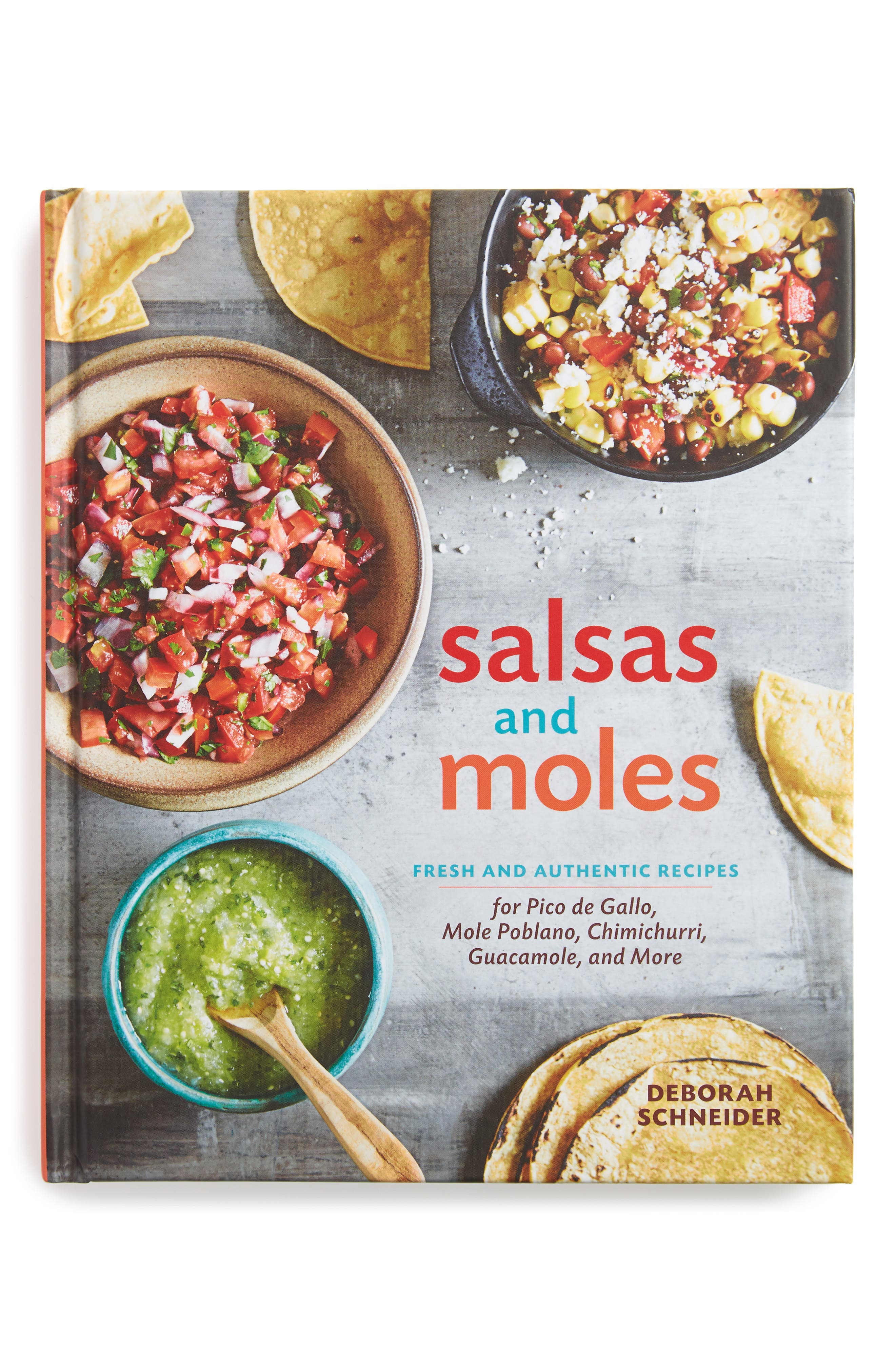 'Salsas and Moles: Fresh and Authentic Recipes' Book,                             Main thumbnail 1, color,                             Grey