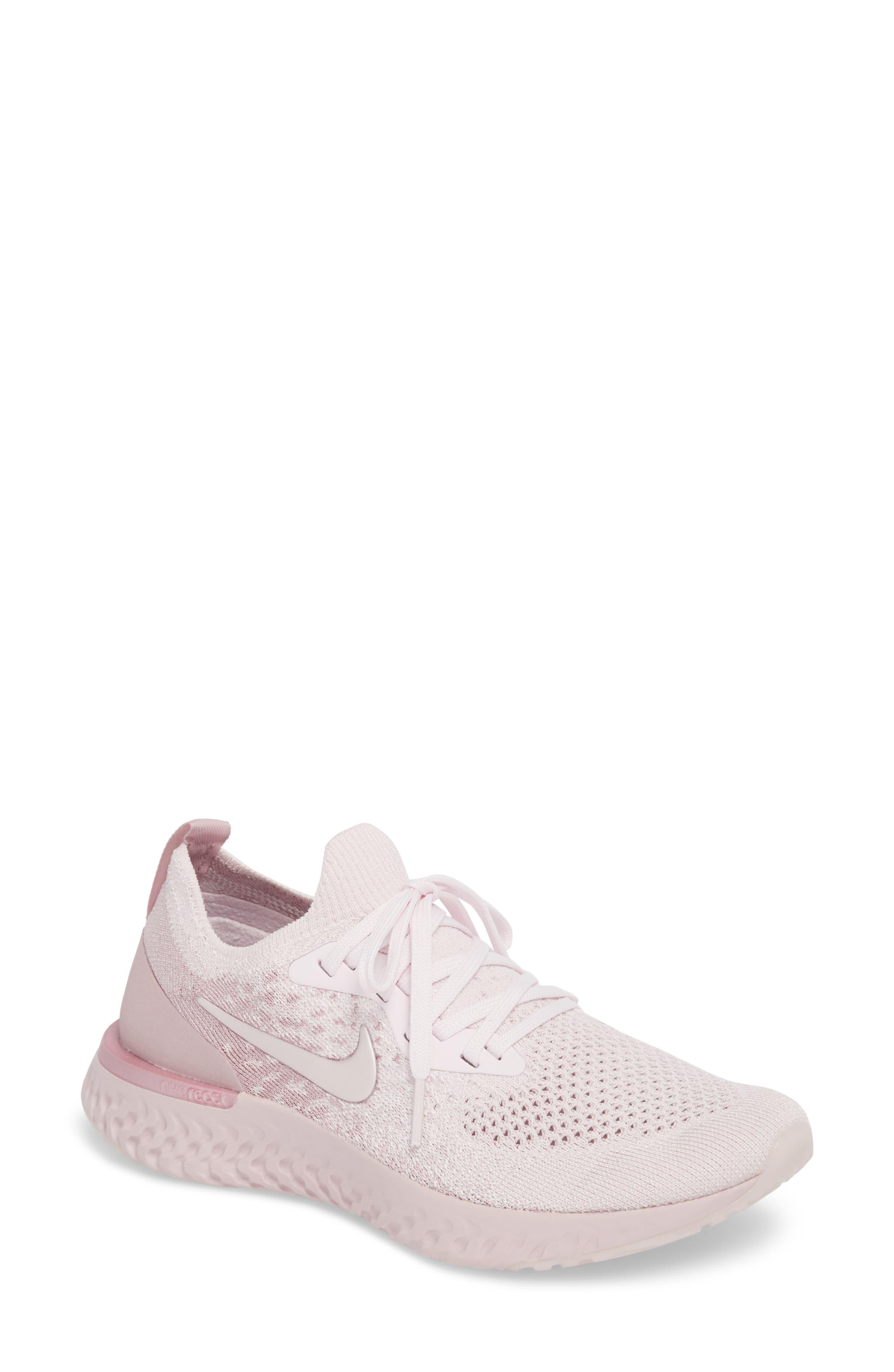 Nike Epic React Flyknit Running Shoe (Women). PEARL PINK/ ...