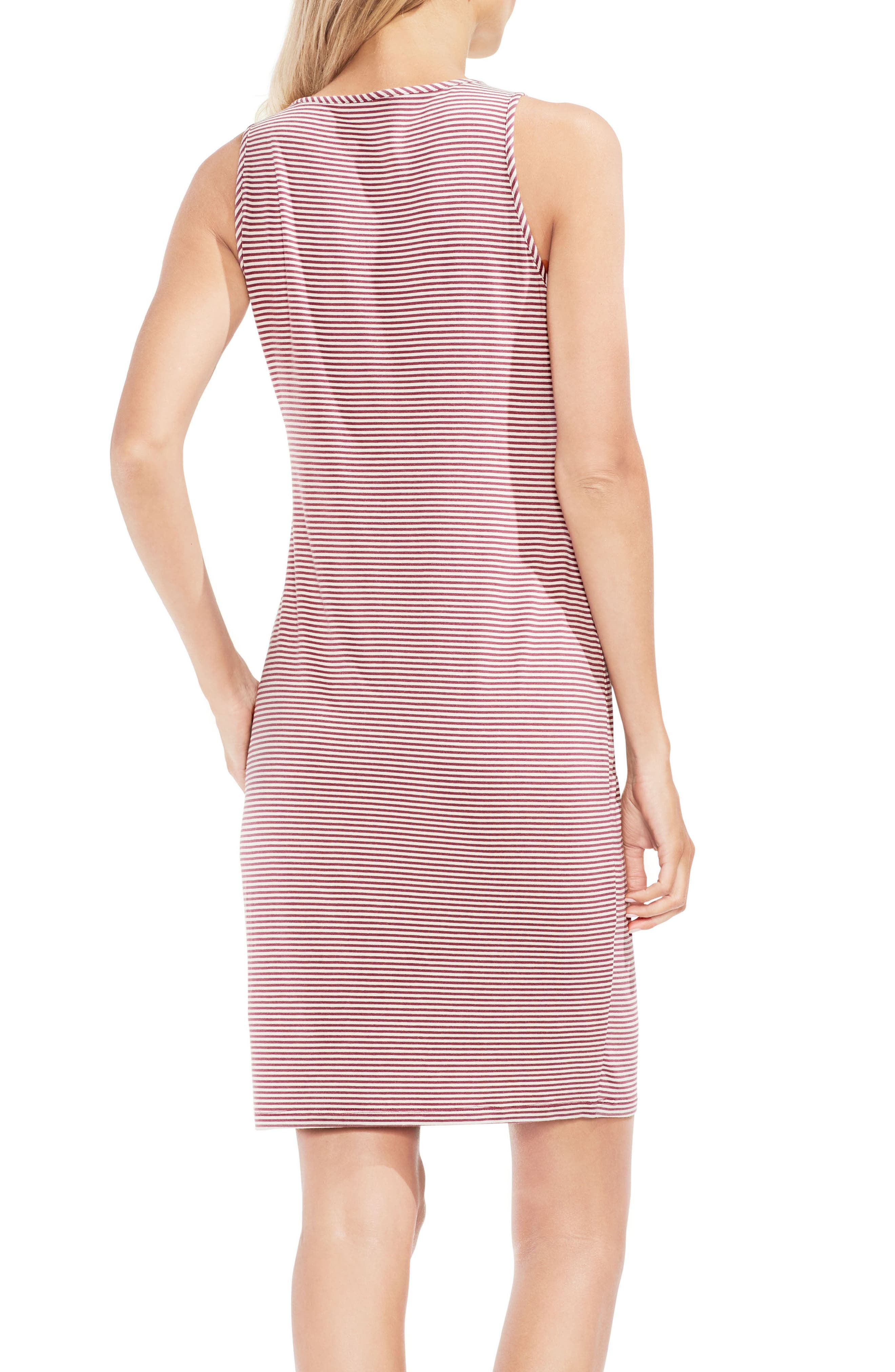 Chantelle Pinstripe Body-Con Dress,                             Alternate thumbnail 2, color,                             Summer Rose
