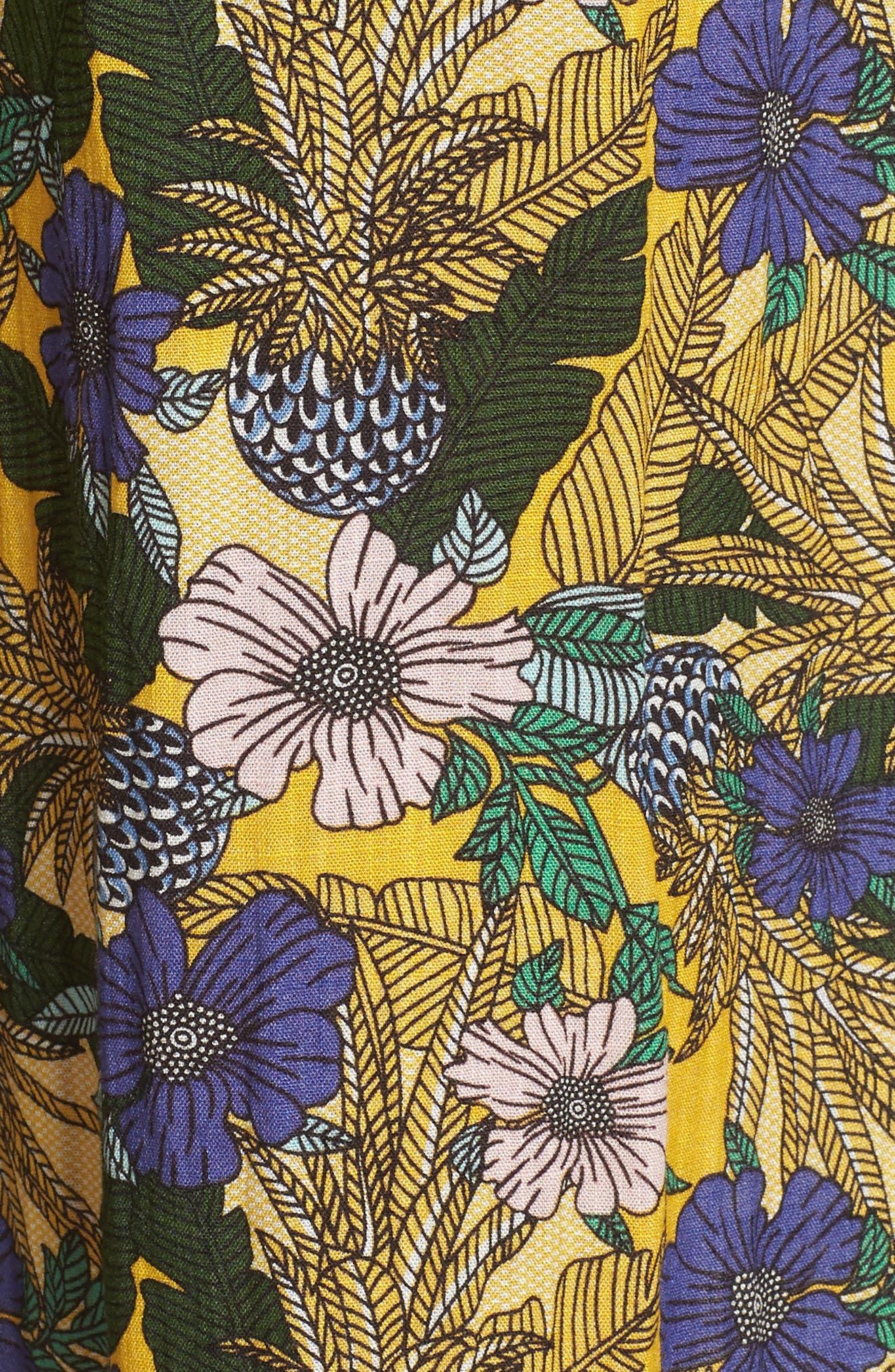Isla Print Jumpsuit,                             Alternate thumbnail 7, color,                             Yellow Multi