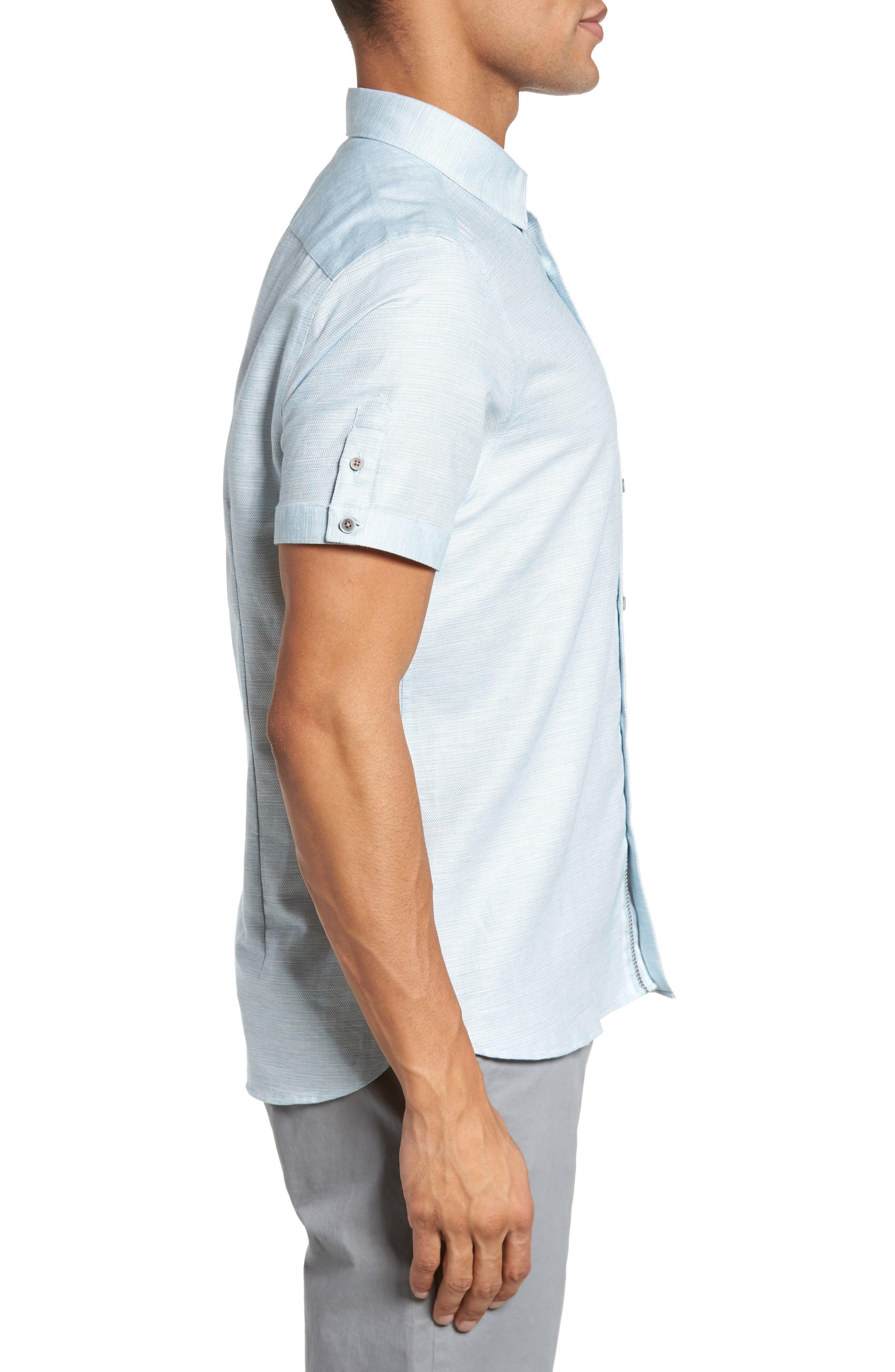 Peezett Short Sleeve Sport Shirt,                             Alternate thumbnail 3, color,                             Green