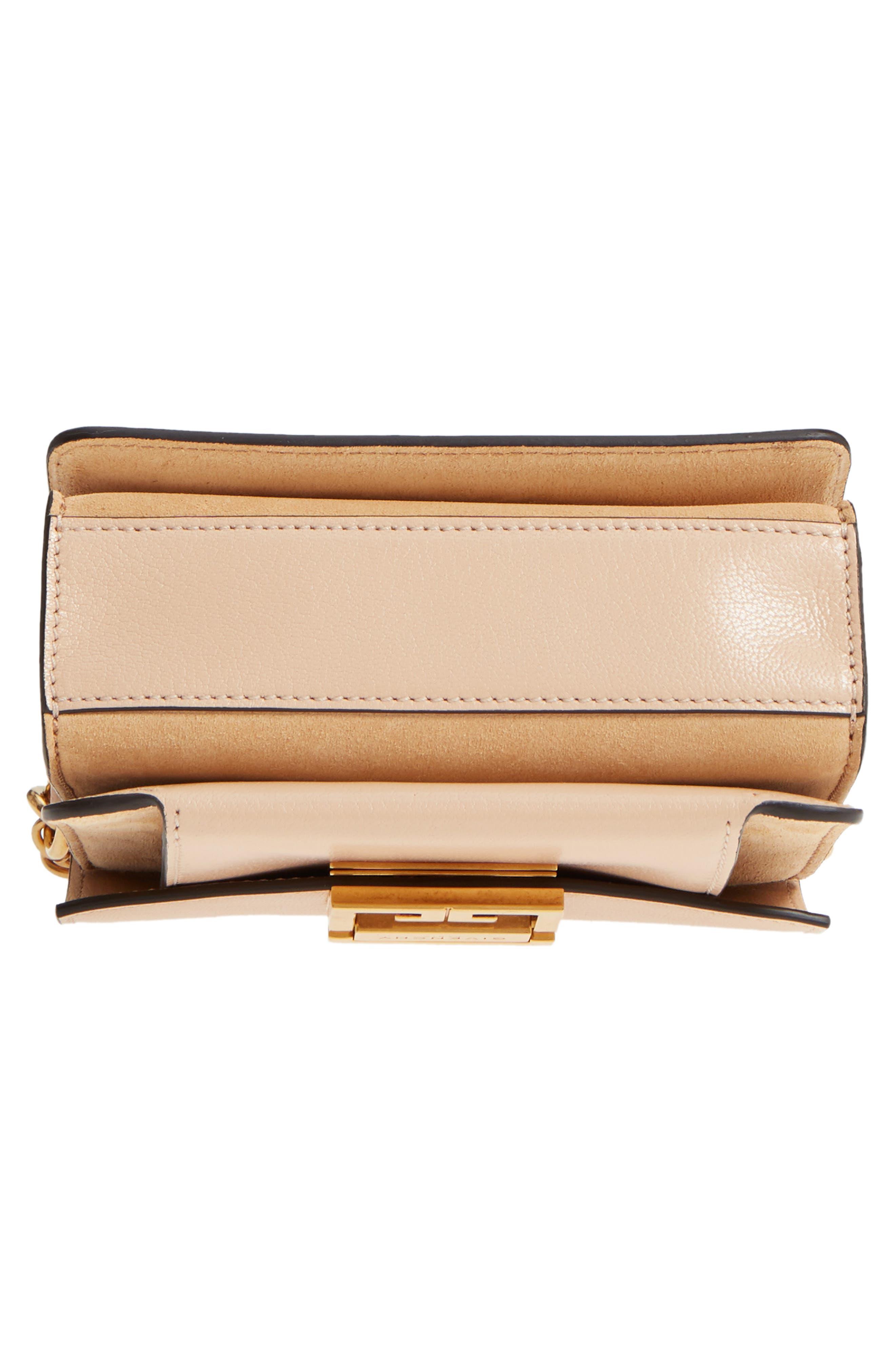 Mini GV3 Leather & Suede Crossbody Bag,                             Alternate thumbnail 5, color,                             Nude/ Light Beige