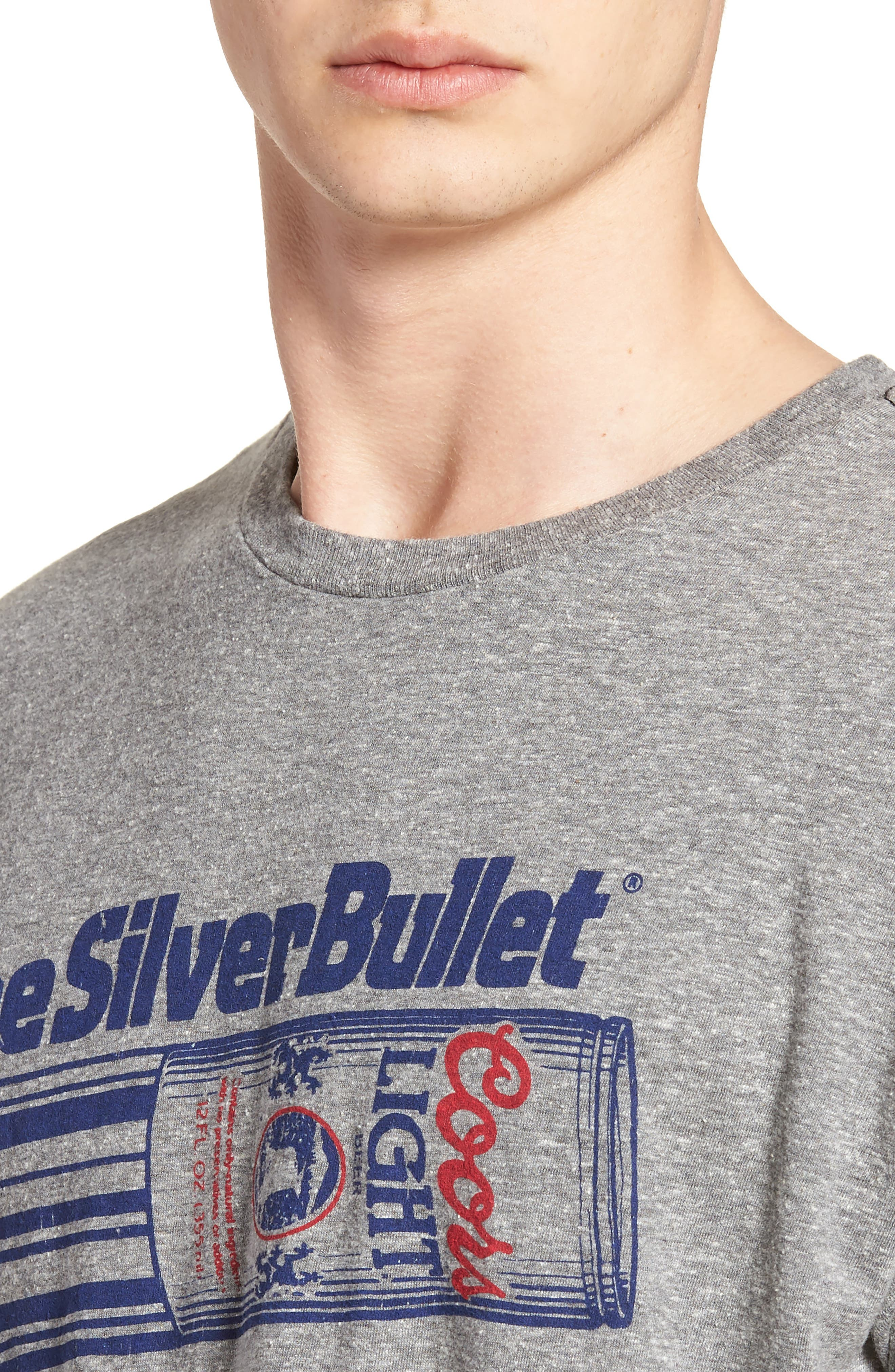 Original Retro Brand Silver Bullet Graphic T-Shirt,                             Alternate thumbnail 4, color,                             Streaky Grey