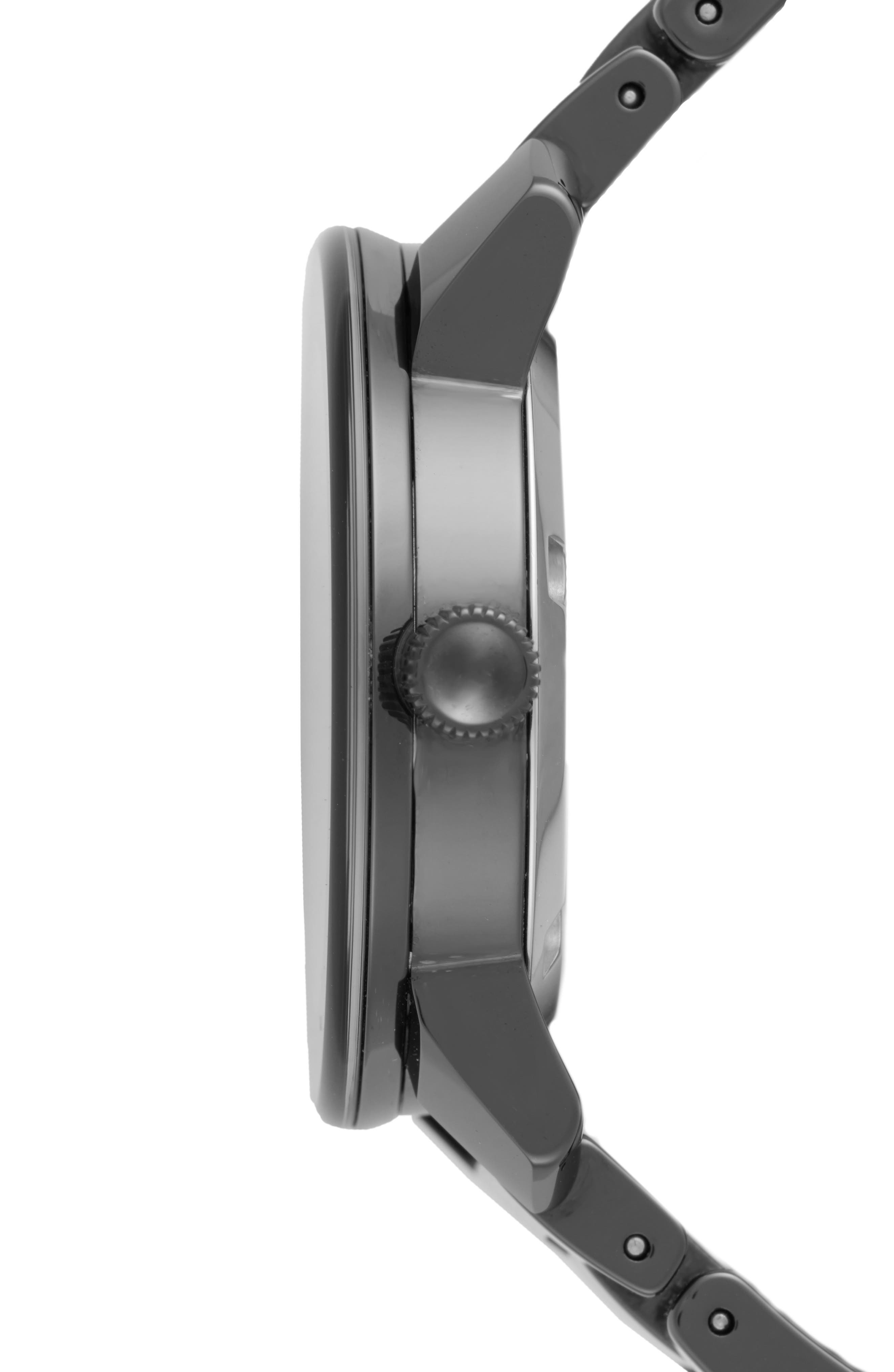 Bold Ceramic Bracelet Watch, 36mm,                             Alternate thumbnail 5, color,                             Black