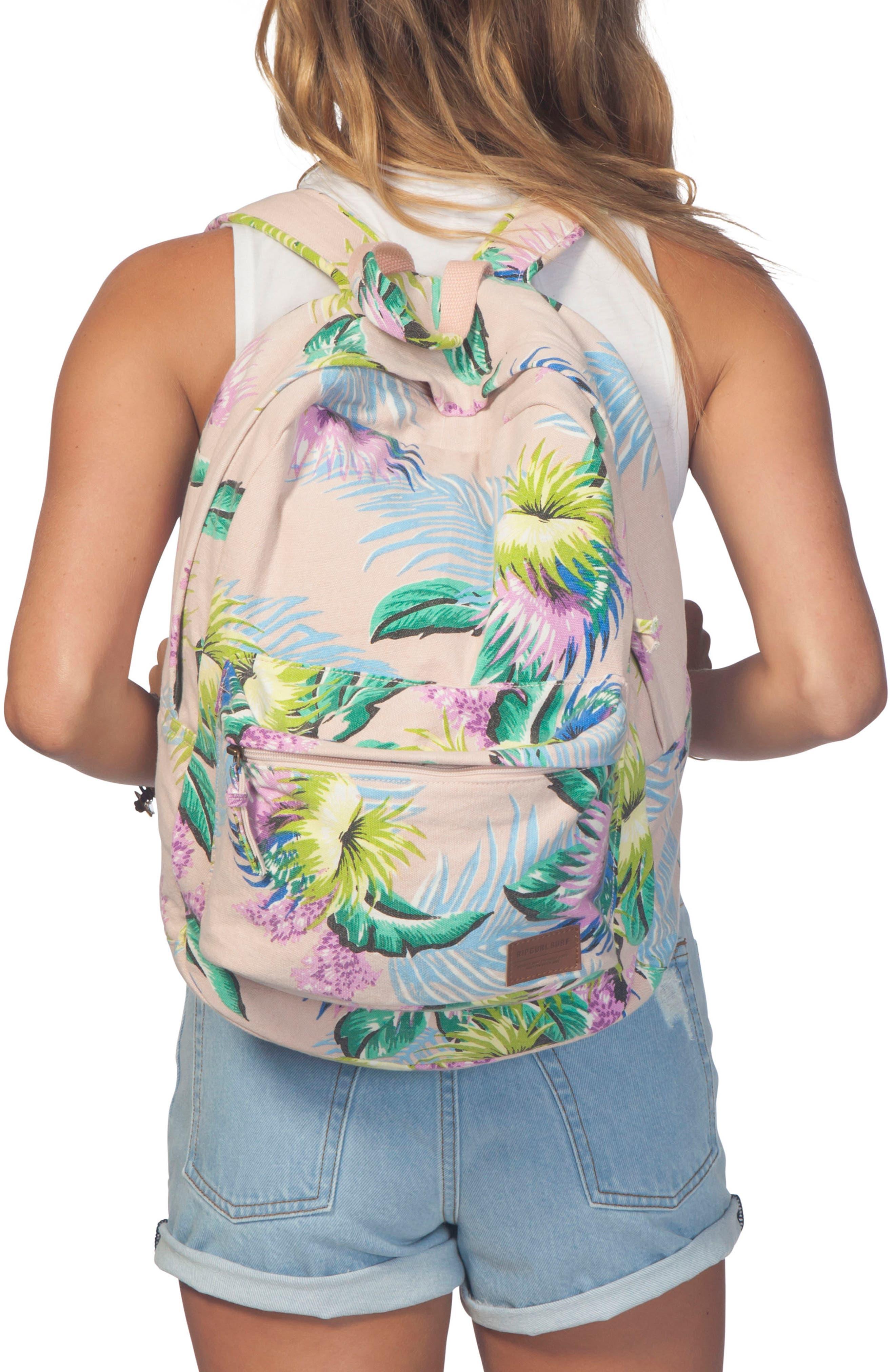 Ophelia Canvas Backpack,                             Alternate thumbnail 2, color,                             Vanilla