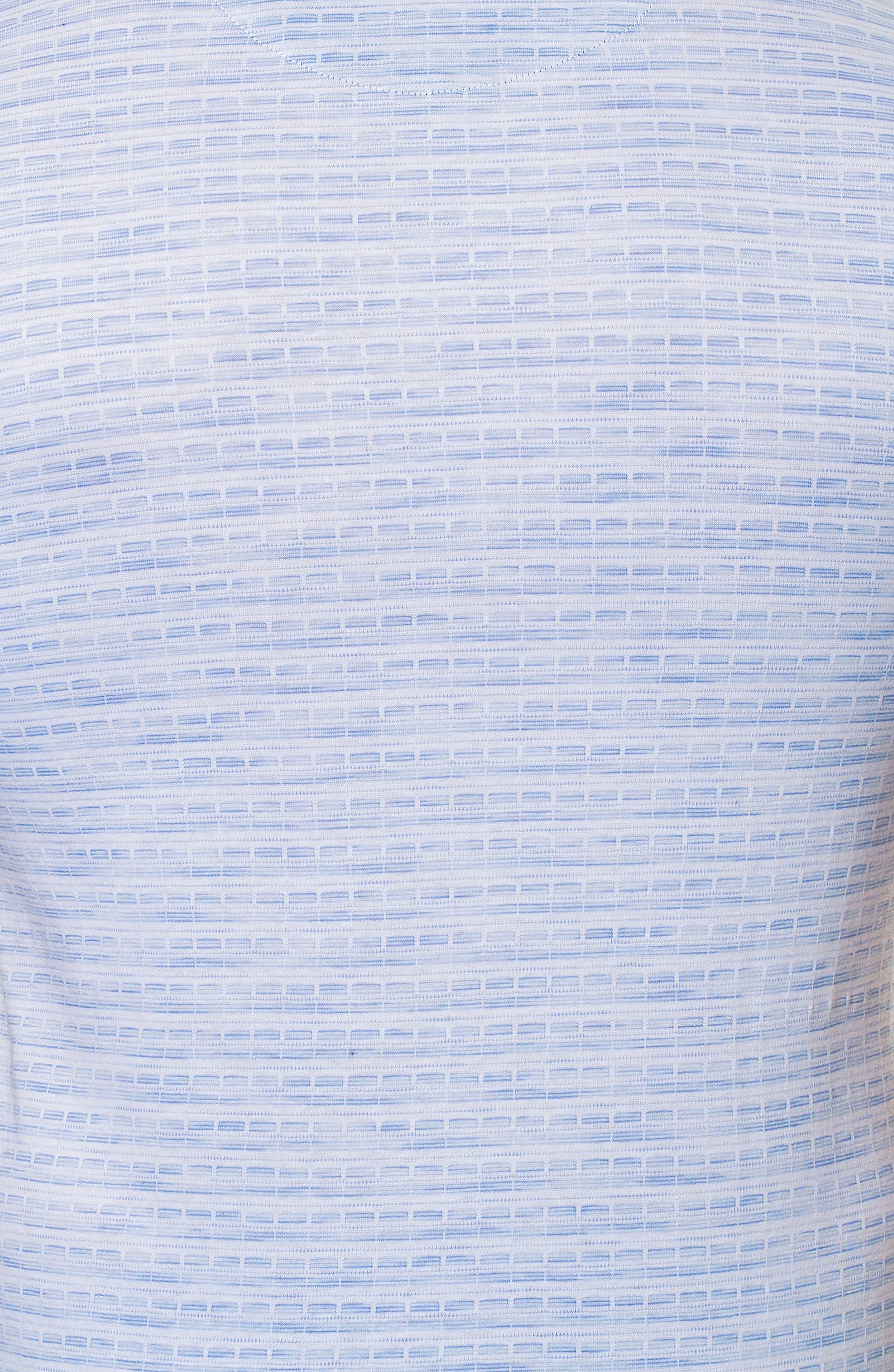 Woven Trim Polo,                             Alternate thumbnail 3, color,                             Blue