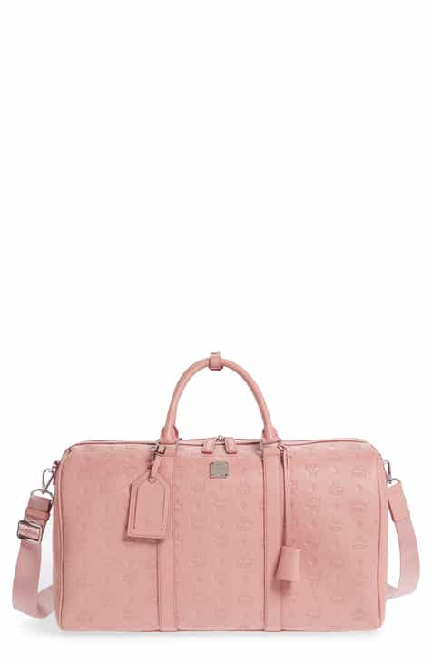 7c23216d2e10 MCM Ottomar Leather Duffel Bag