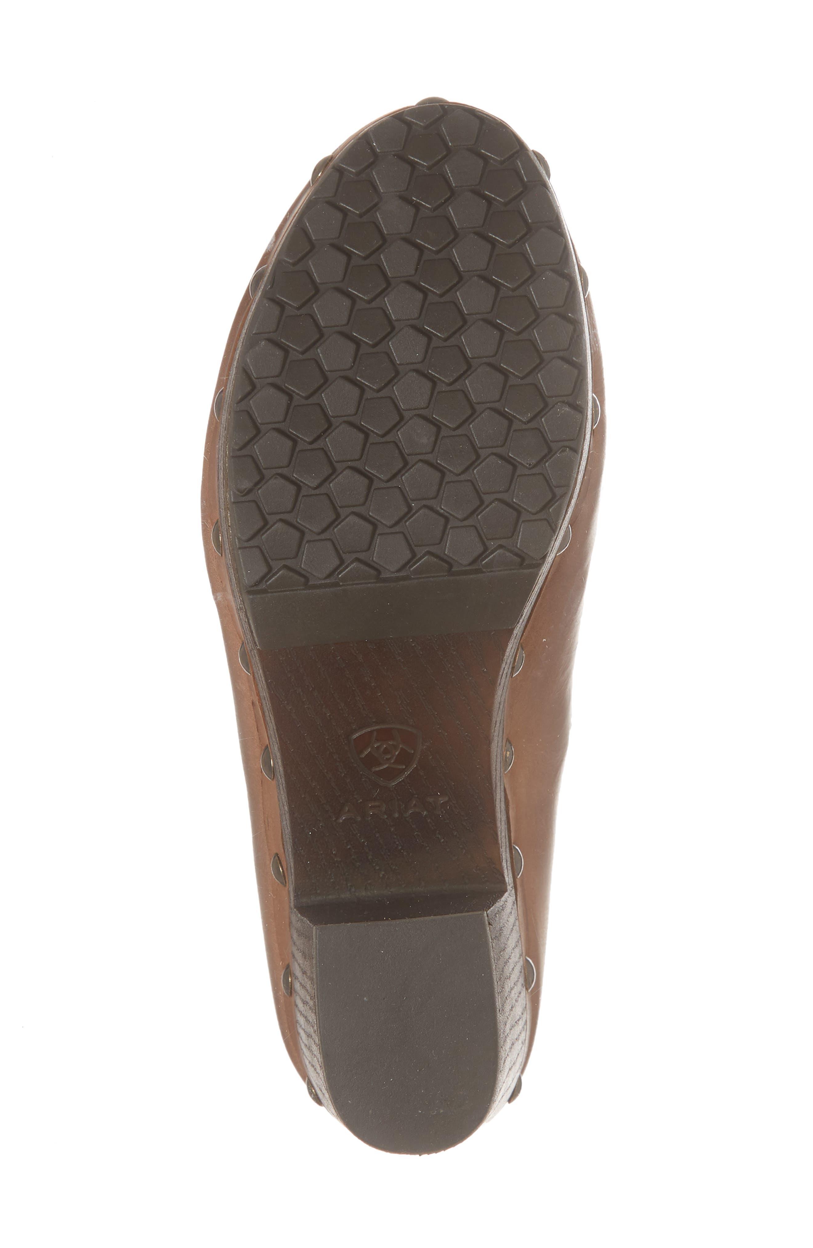 Bria Platform Clog,                             Alternate thumbnail 6, color,                             Bronzed Brown Leather