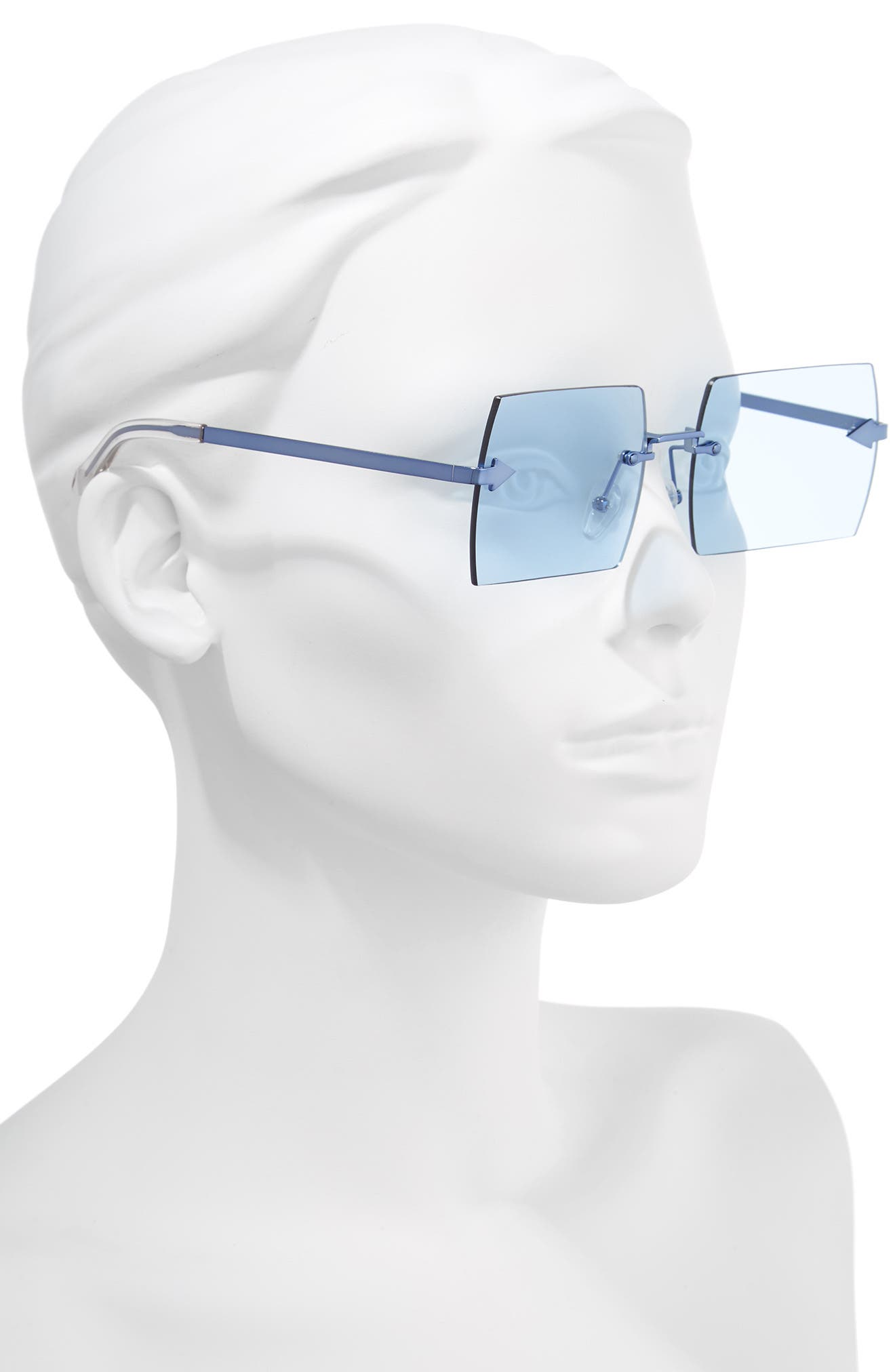 The Bird 58mm Rimless Sunglasses,                             Alternate thumbnail 2, color,                             Sky