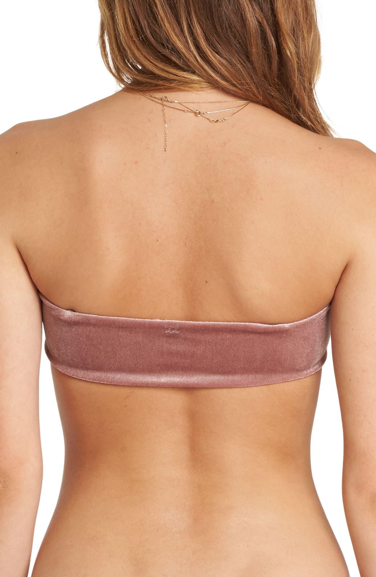 Fool4U Bandeau Bikini Top,                             Alternate thumbnail 2, color,                             Vintage Plum
