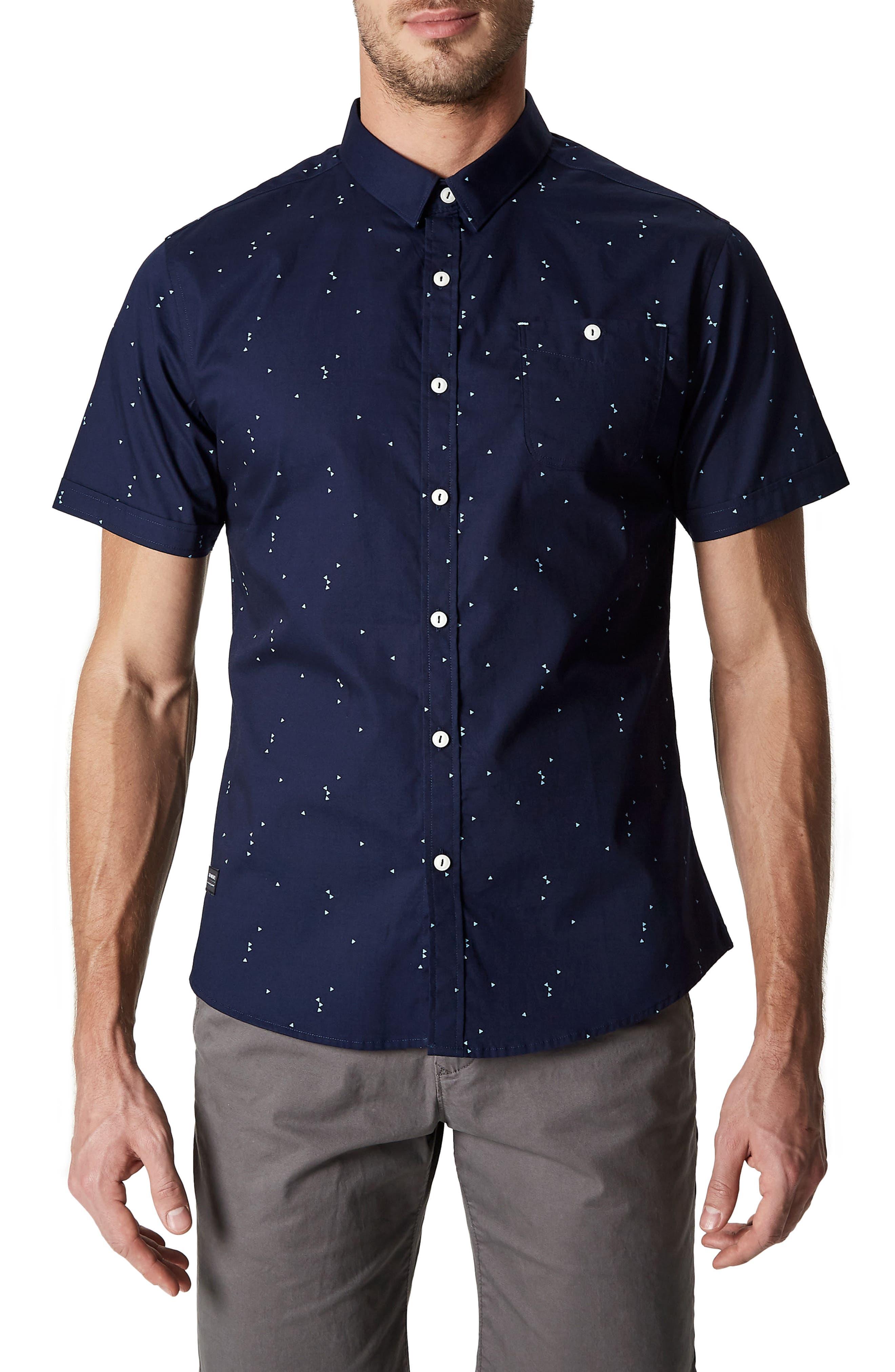 Rubicon Artist Stretch Sport Shirt,                         Main,                         color, Nav