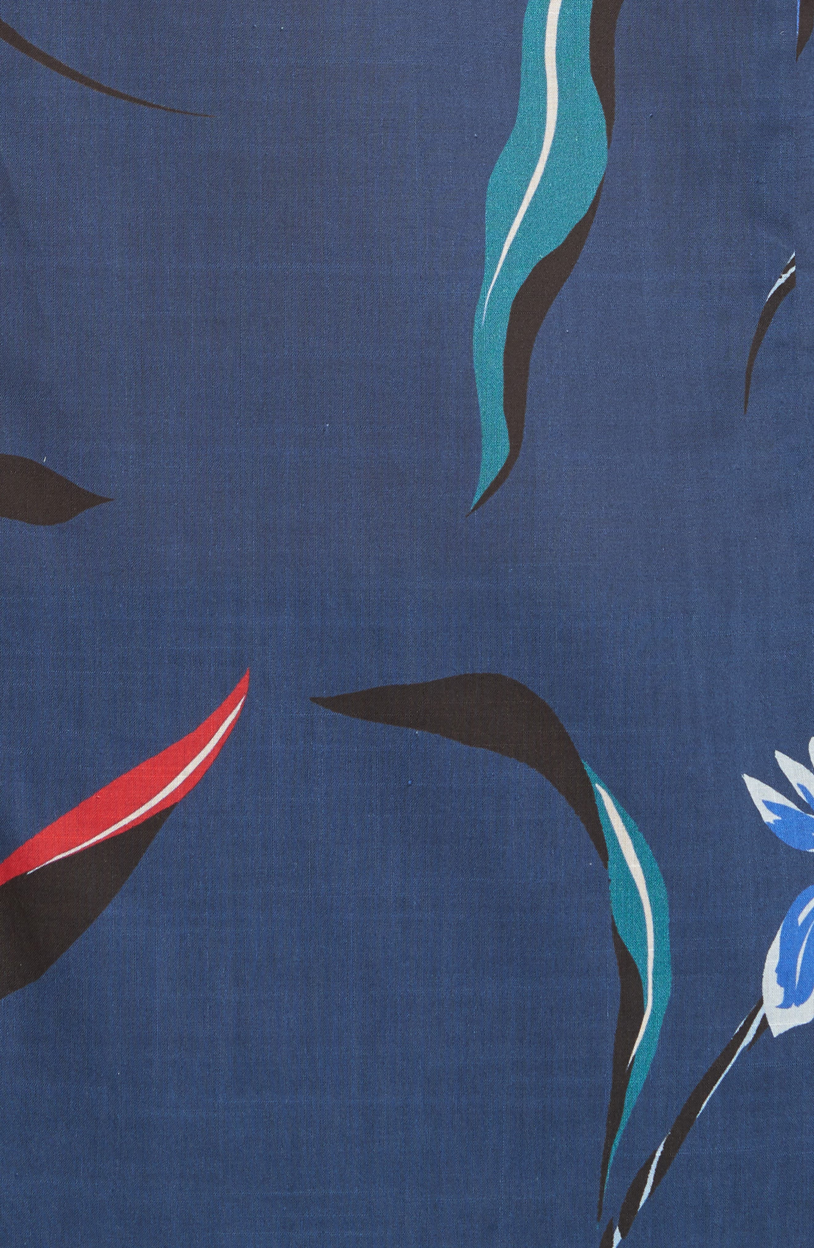 Floral Woven Shirt,                             Alternate thumbnail 5, color,                             03 Light Blue