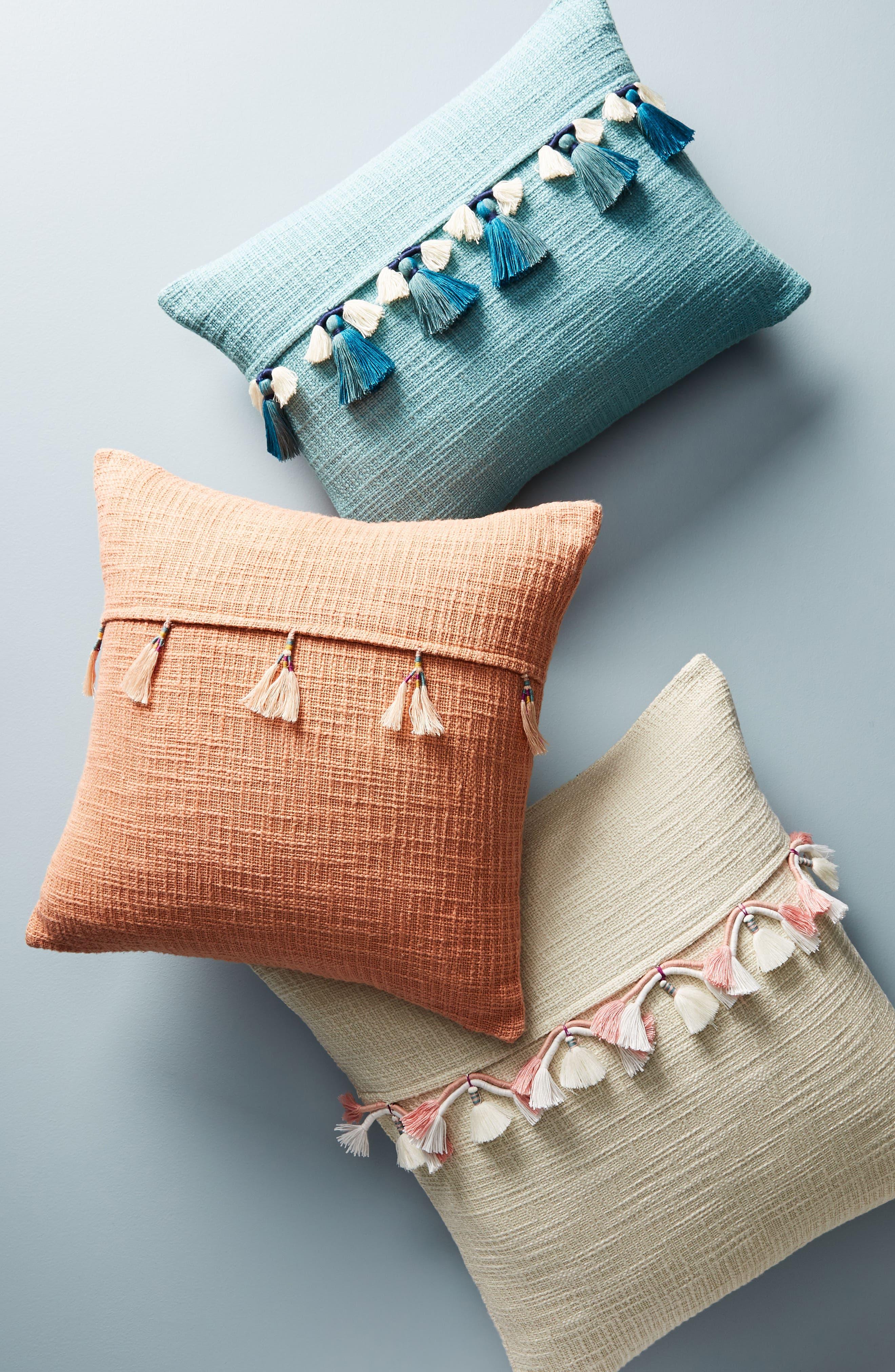 Varied Tassel Accent Pillow,                             Alternate thumbnail 4, color,