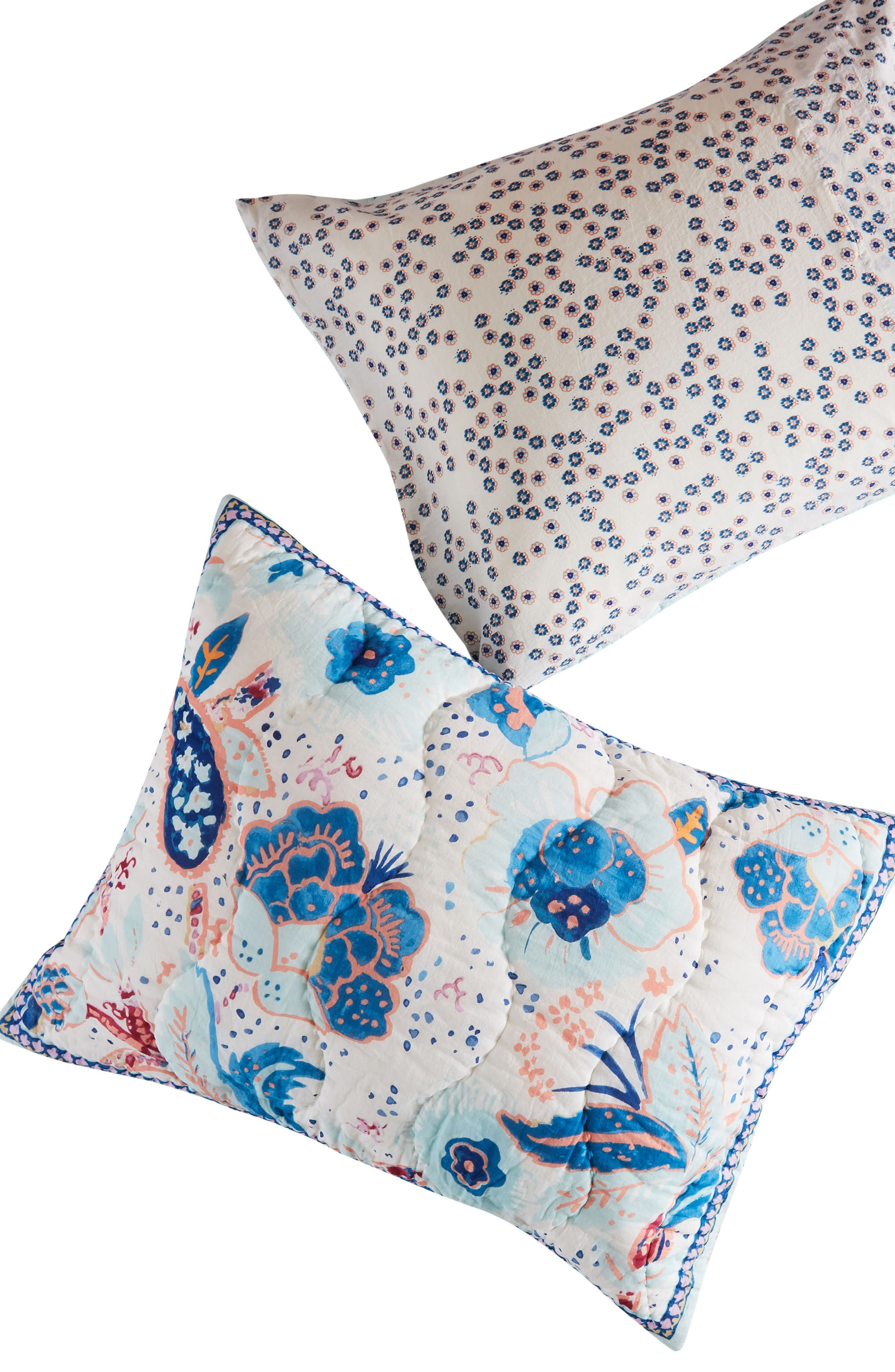 Santorini Pillow Shams,                             Alternate thumbnail 2, color,                             Blue Combo