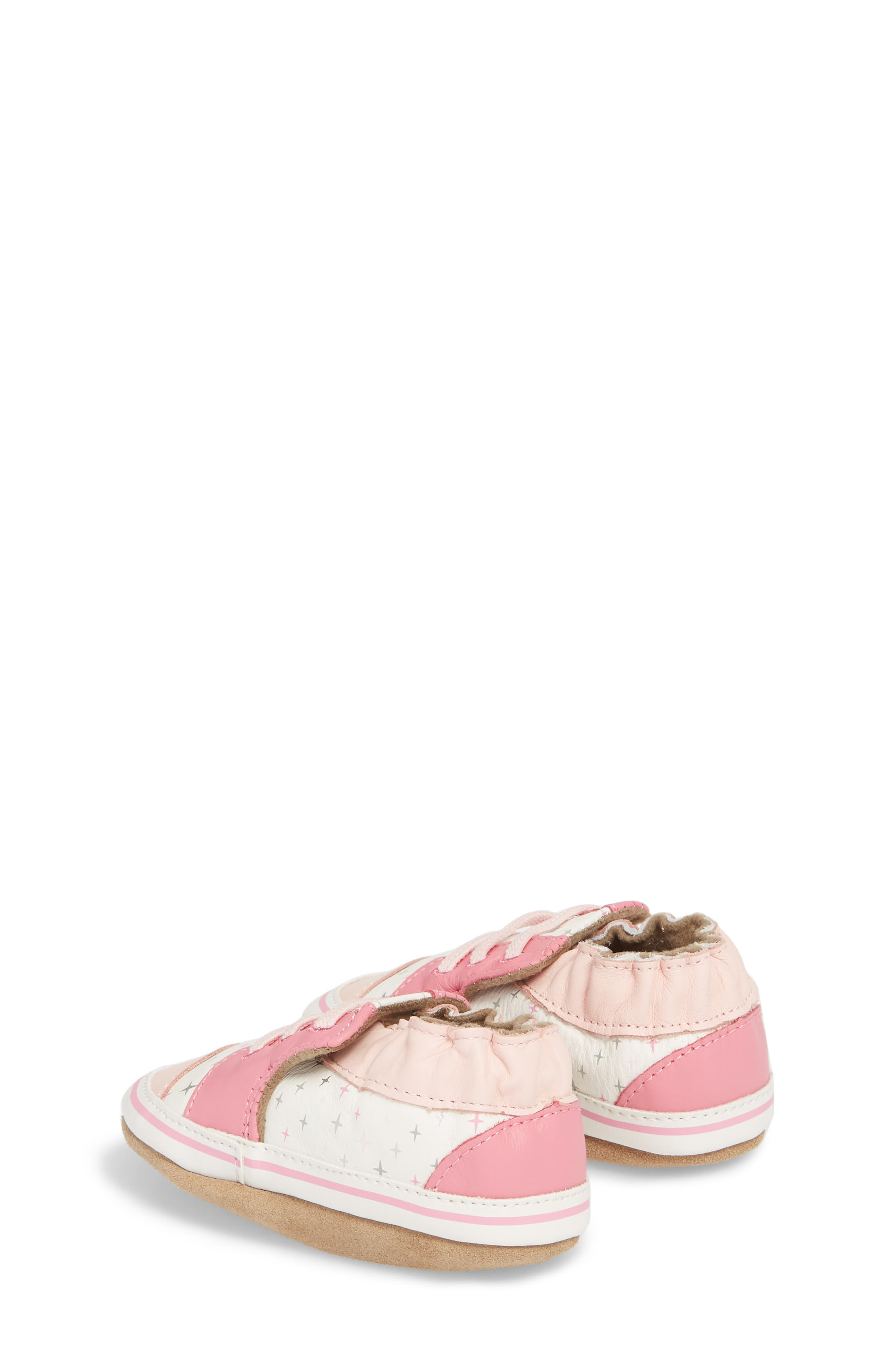 Alternate Image 2  - Robeez® Trendy Trainer Sneaker Crib Shoe (Baby)