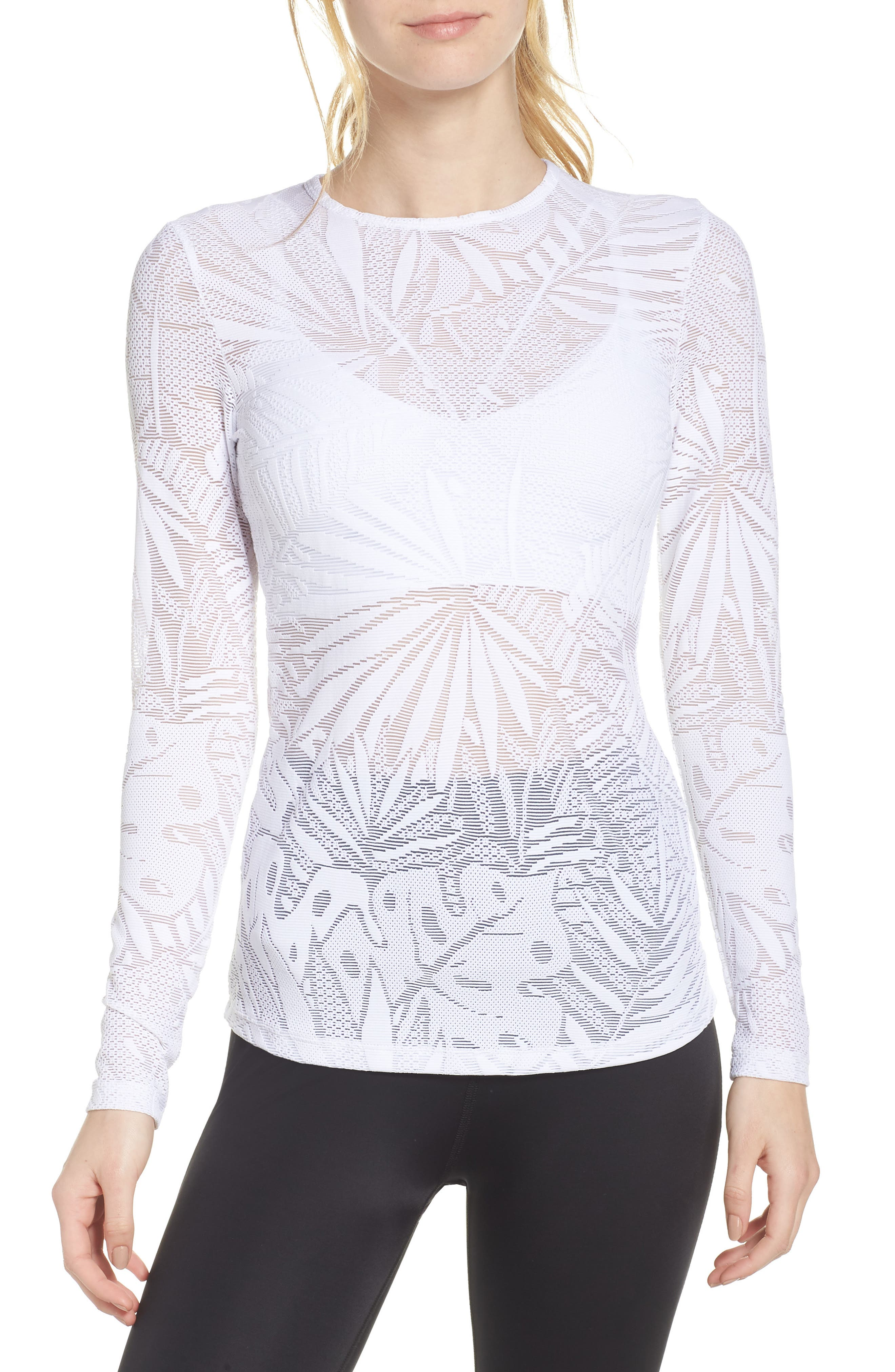 Oasis Mesh Pullover,                             Main thumbnail 1, color,                             White